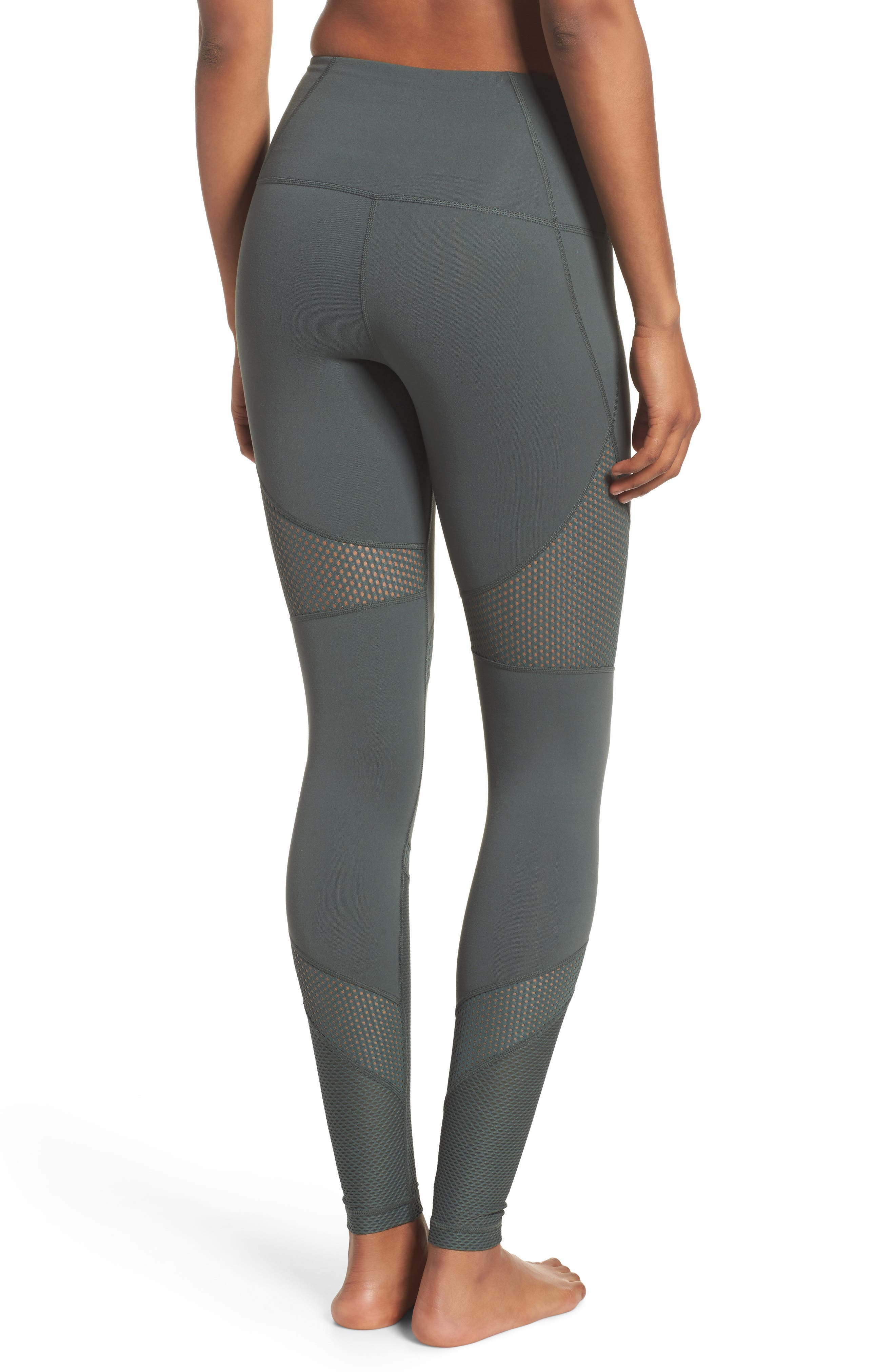 Out of Bounds High Waist Leggings,                             Alternate thumbnail 2, color,                             Grey Urban