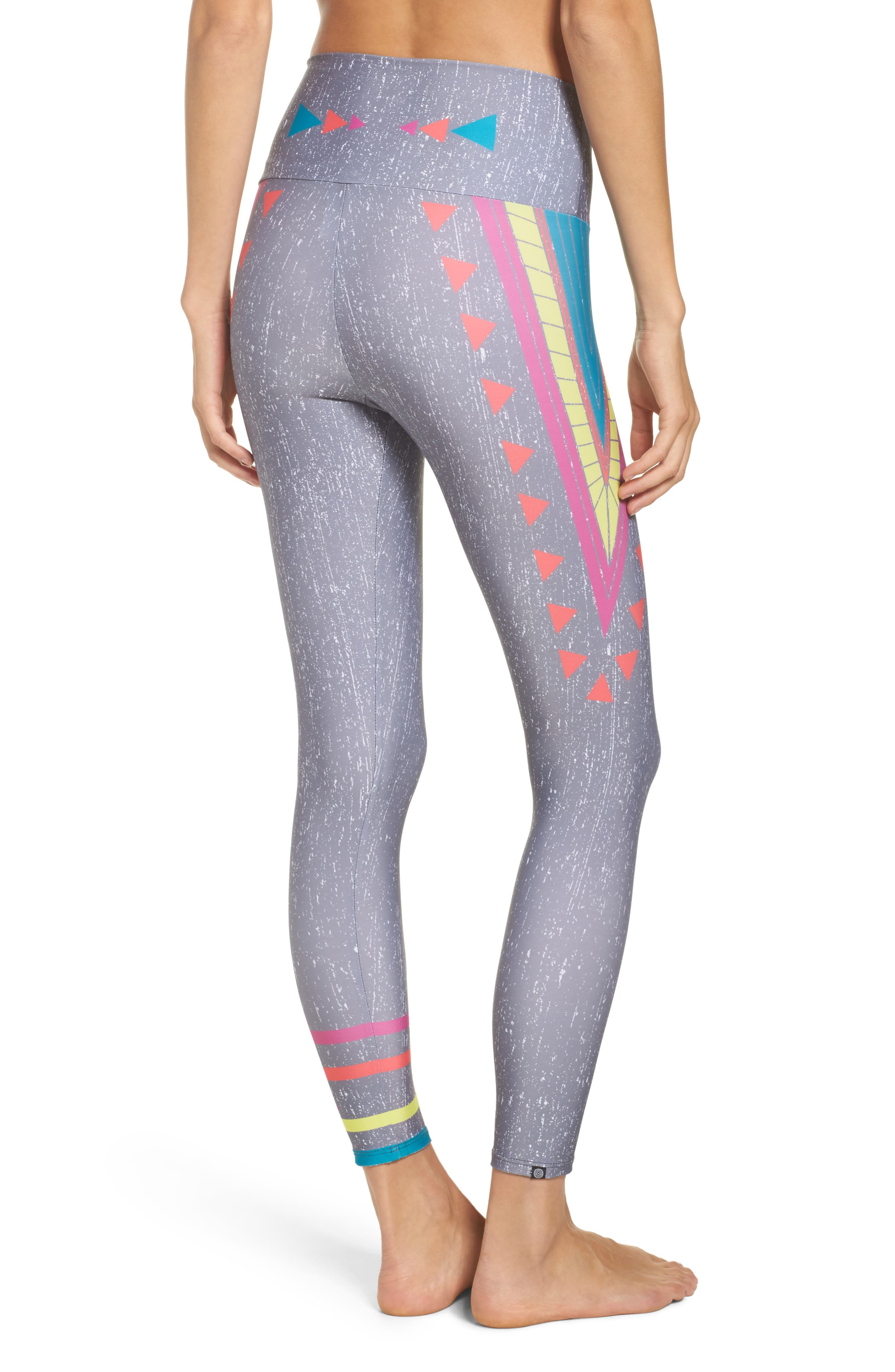 Alternate Image 2  - Onzie High Waist Graphic Leggings