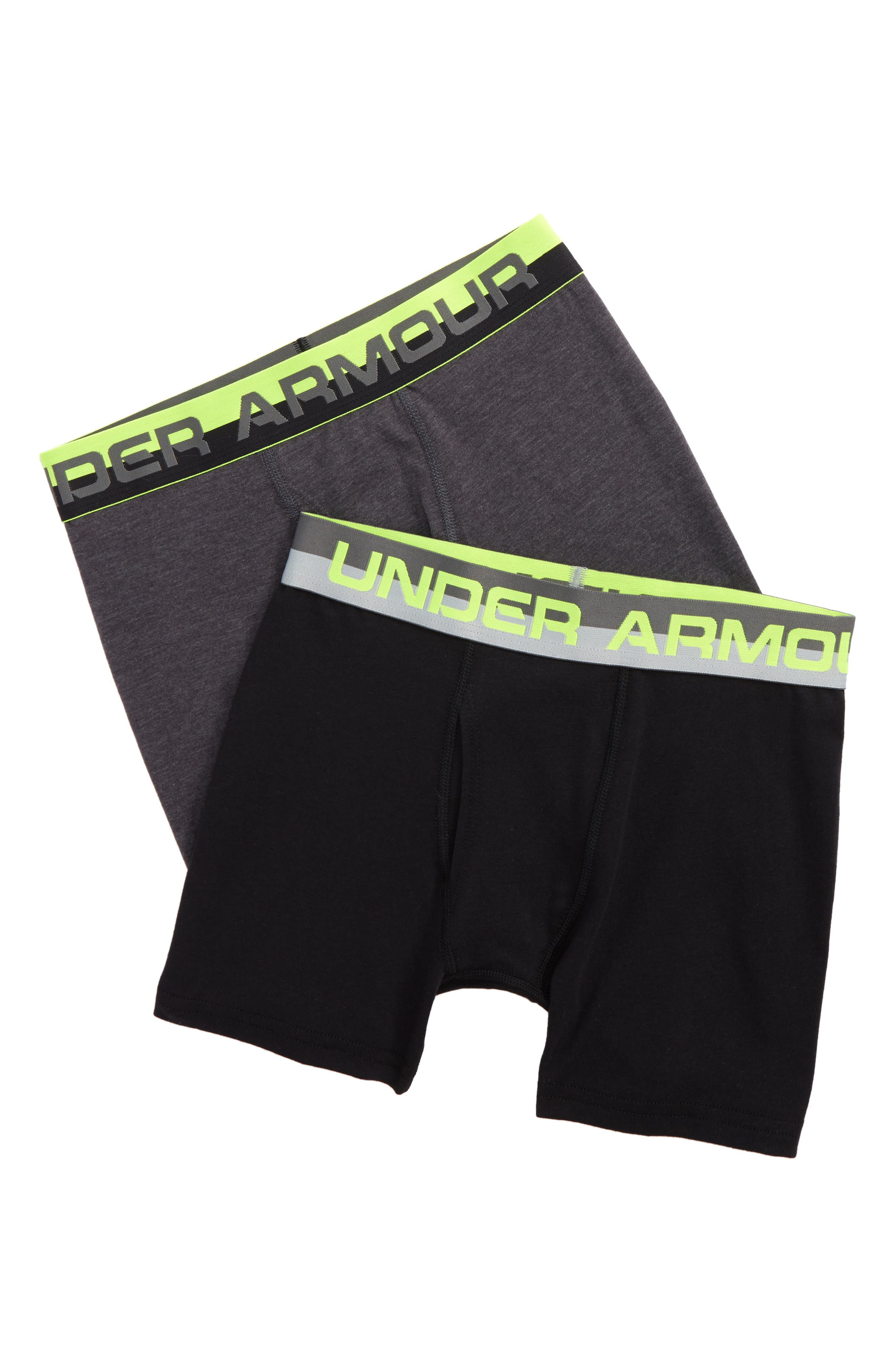 Under Armour 2-Pack Boxer Briefs (Big Boys)