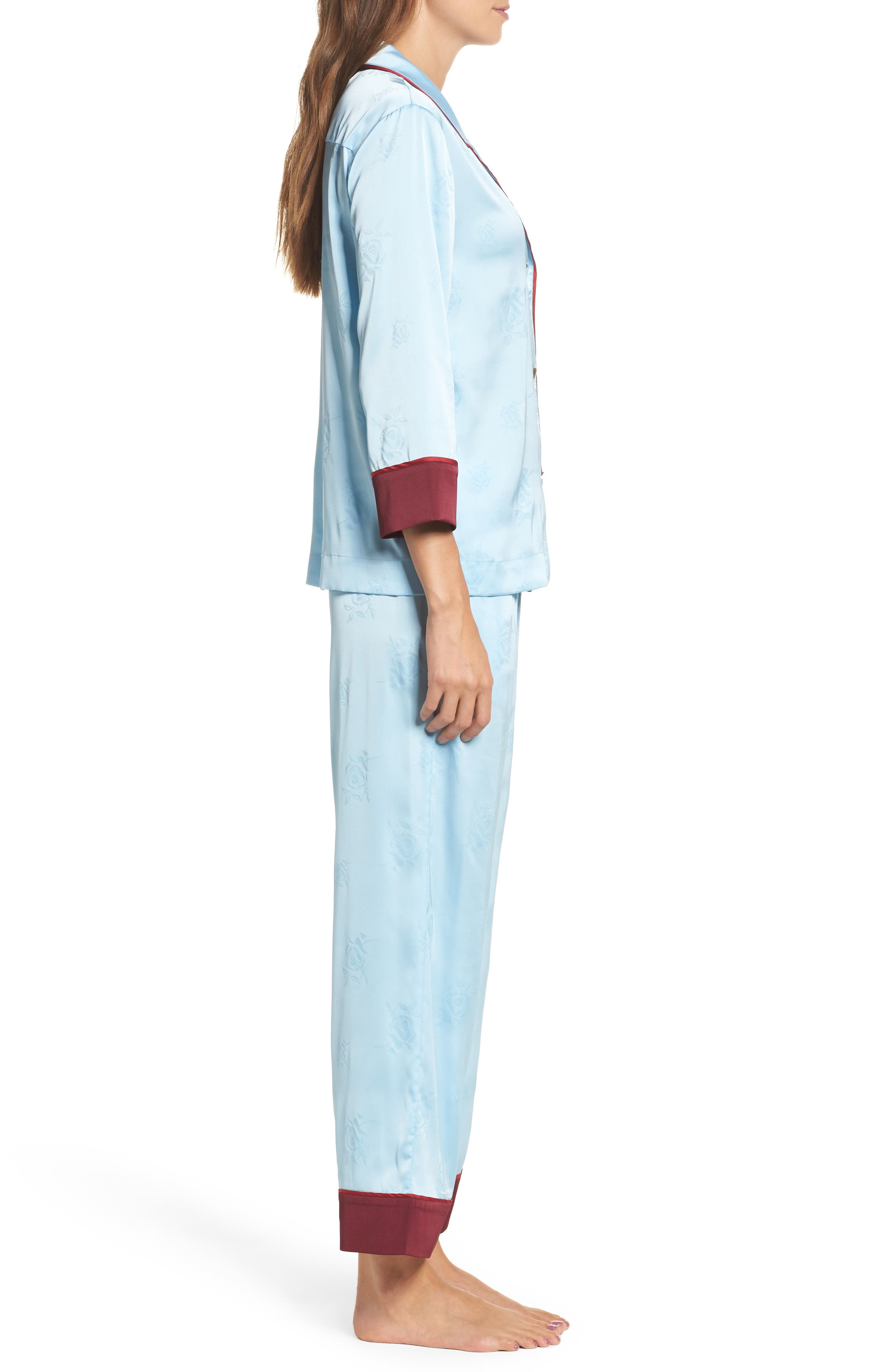 Alternate Image 3  - Bed to Brunch Crop Pajamas