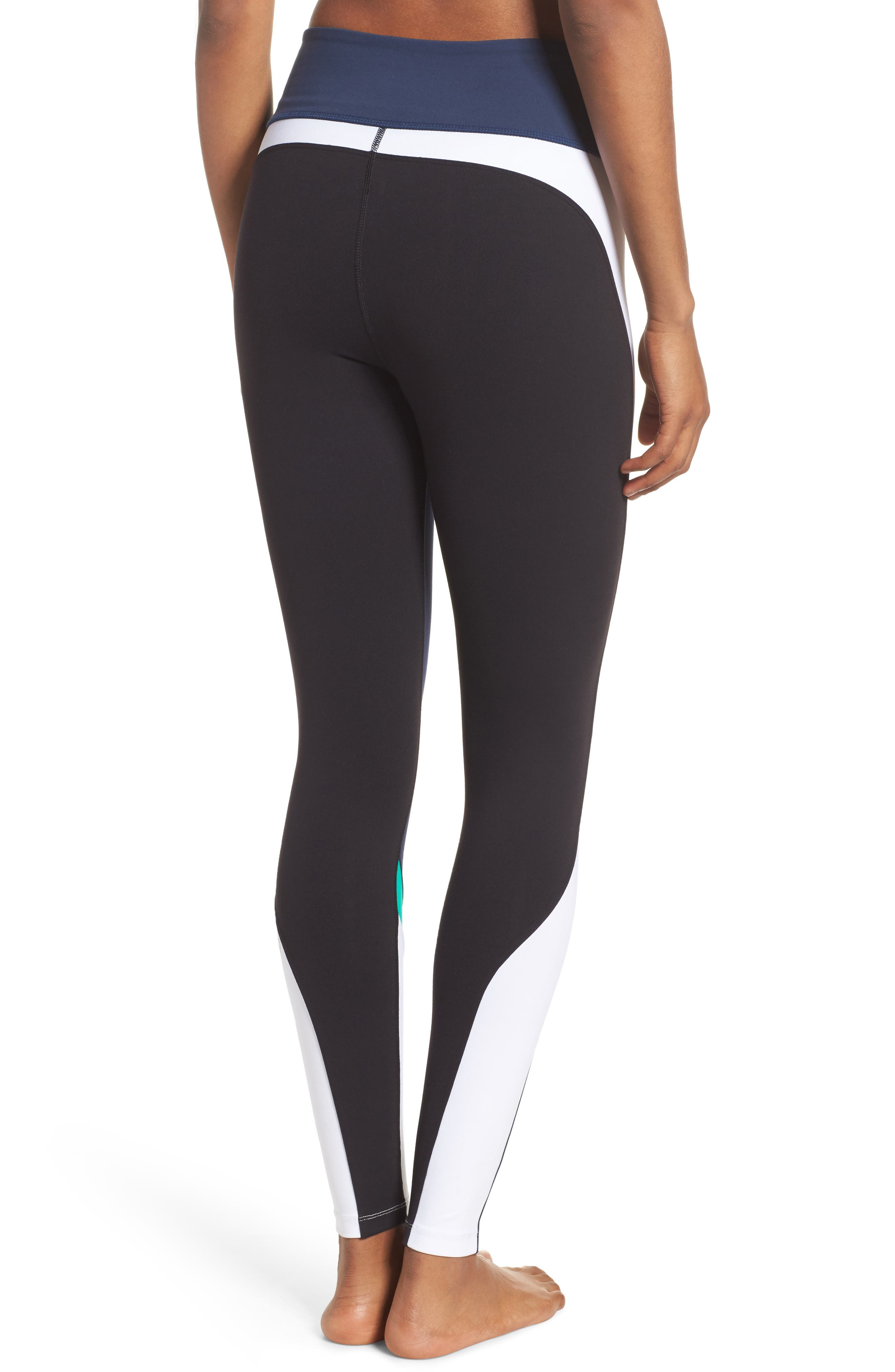 Force Ankle Tights,                             Alternate thumbnail 2, color,                             Navy/ Kelly/ White/ Black