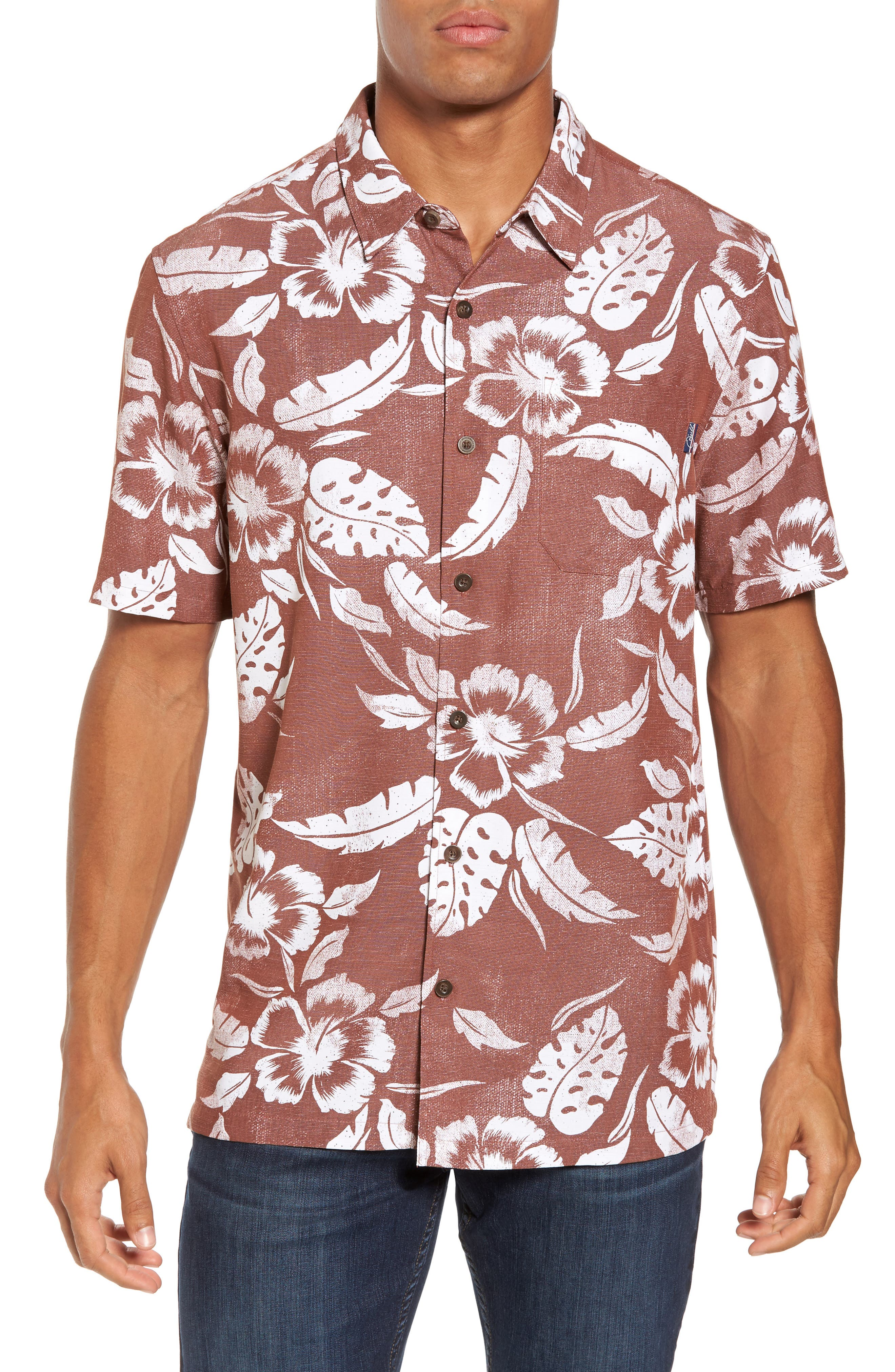 Pacifica Regular Fit Print Sport Shirt,                         Main,                         color, Picante