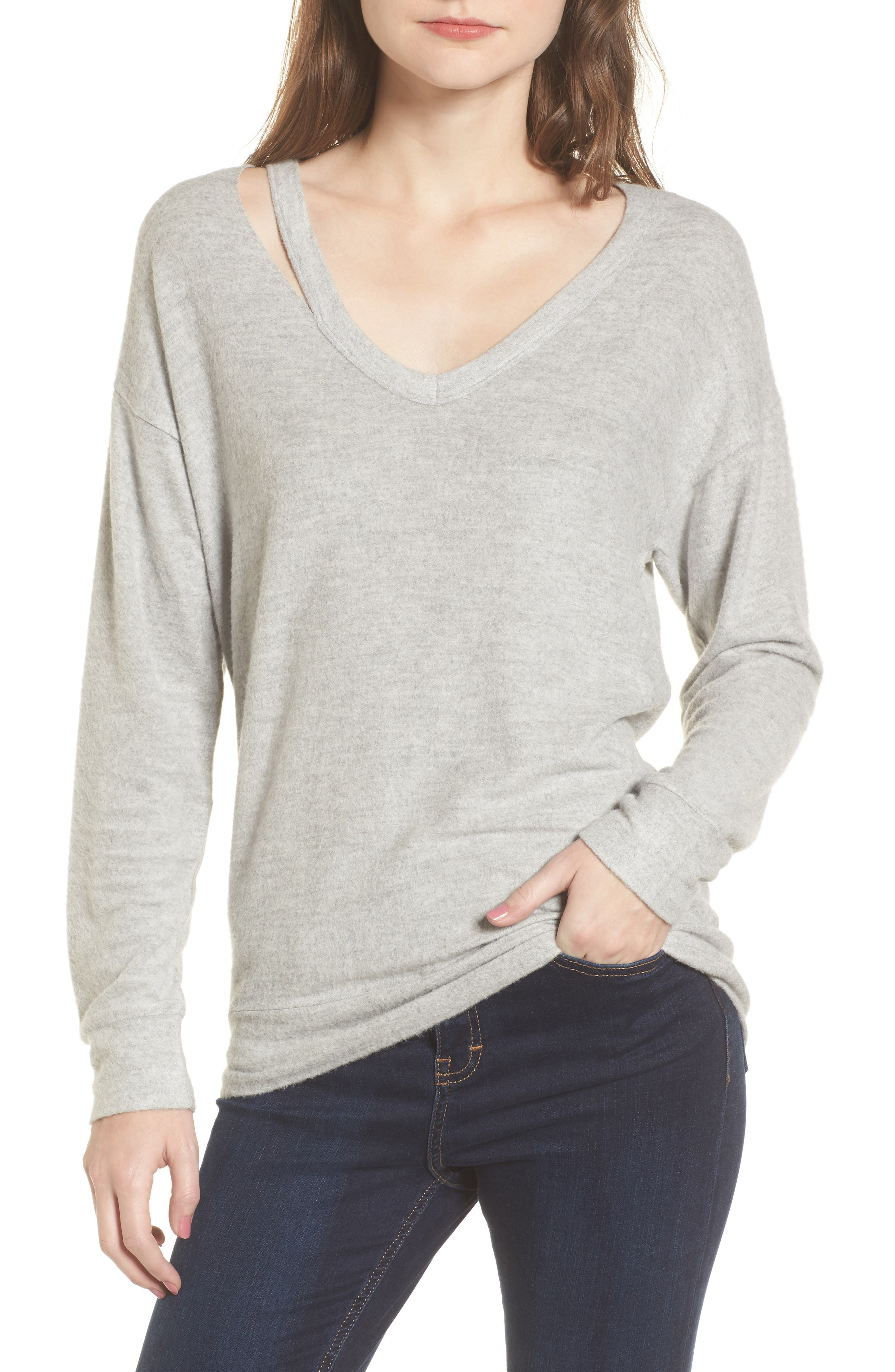 Socialite Split V-neck Sweater