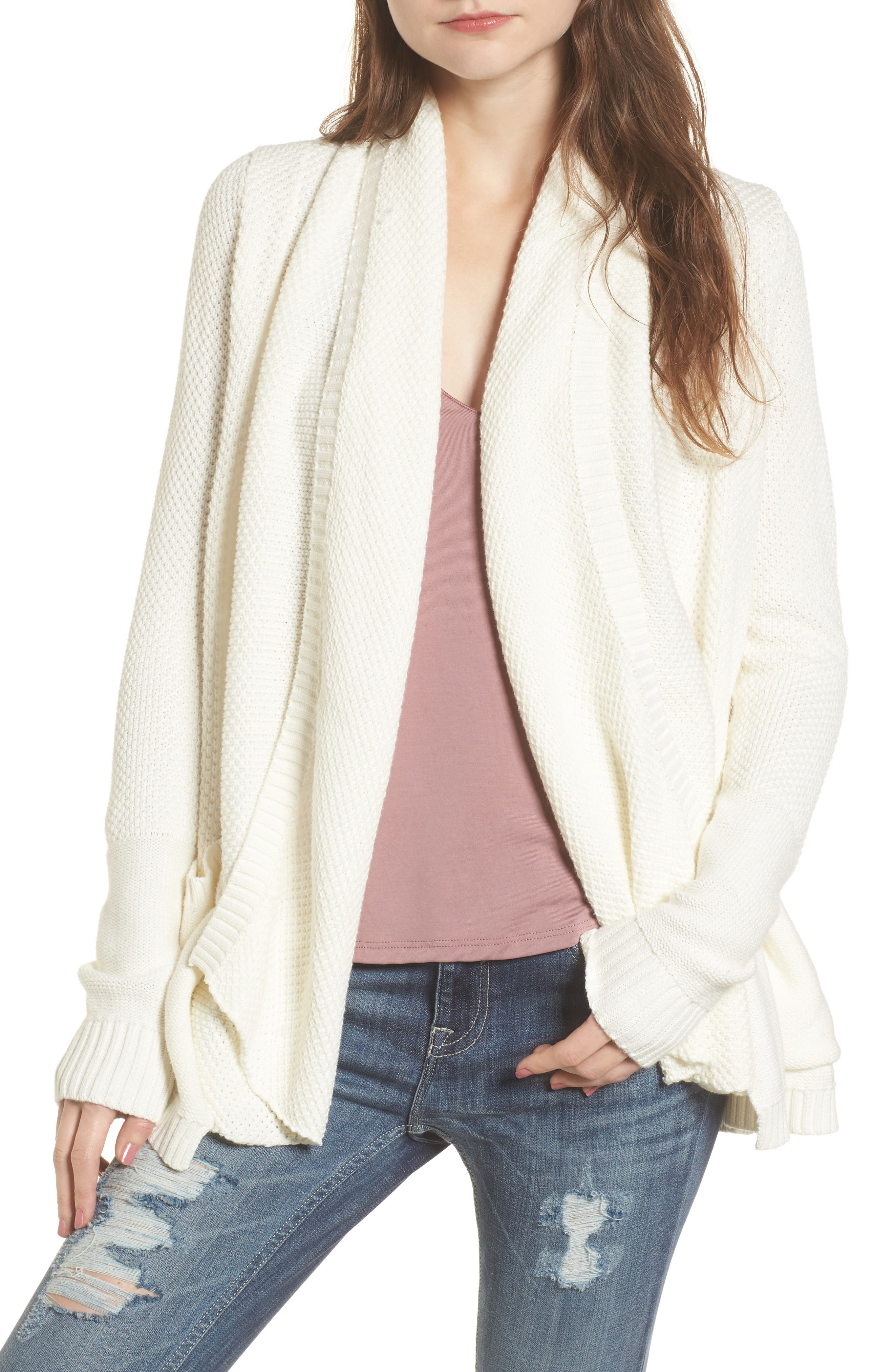 Brunswick Cotton Cardigan,                         Main,                         color, Vanilla