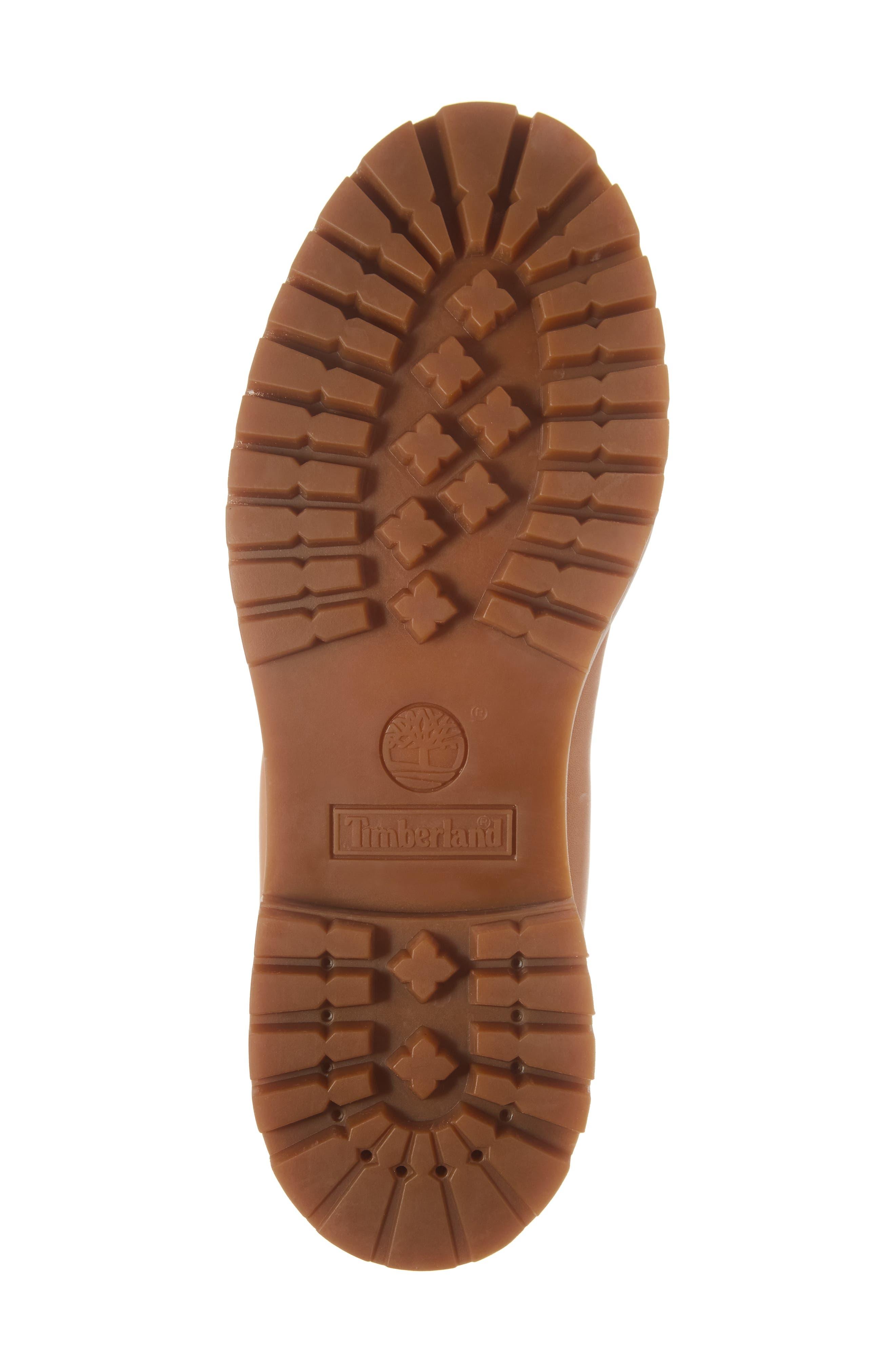 Premium Waterproof Plain Toe Boot,                             Alternate thumbnail 6, color,                             Natural Leather