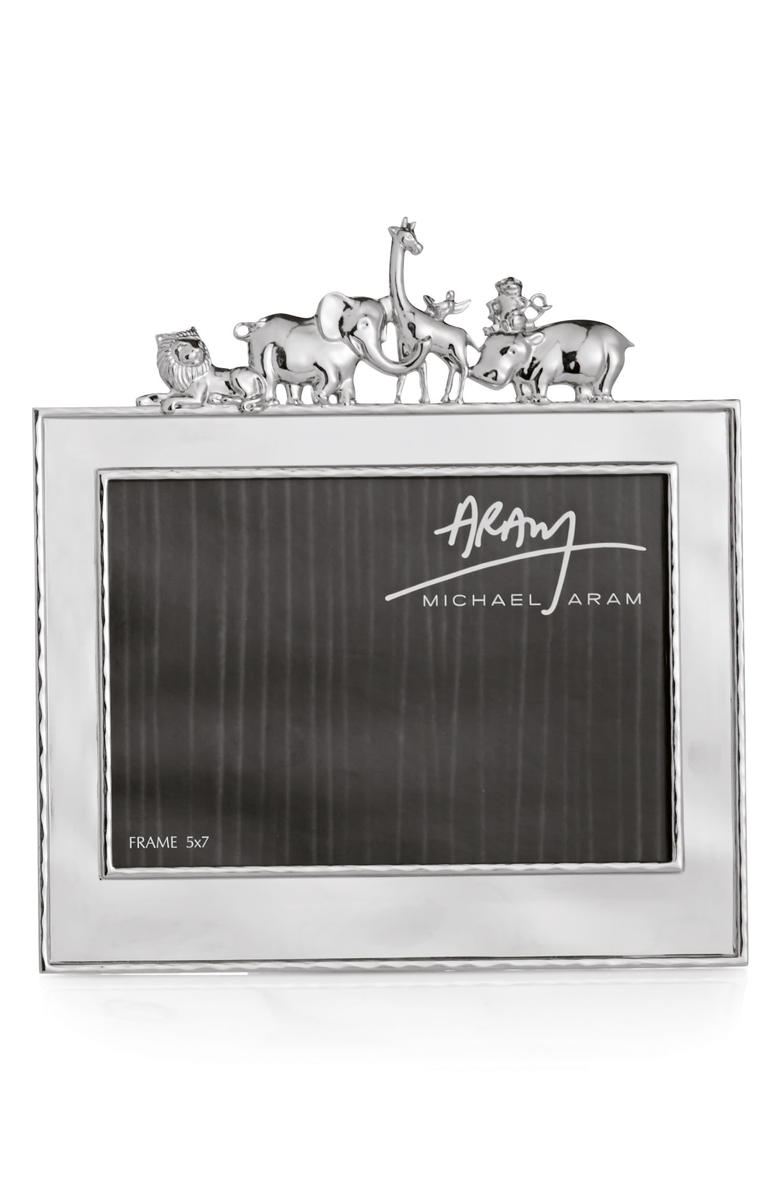 Animals Picture Frame,                         Main,                         color, Silver