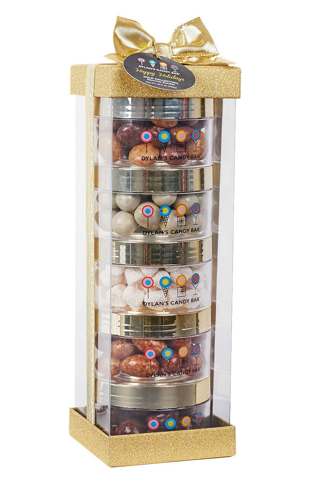 Dylan's Candy Bar Deluxe Christmas 5-Piece Stack A-Round Gift Box