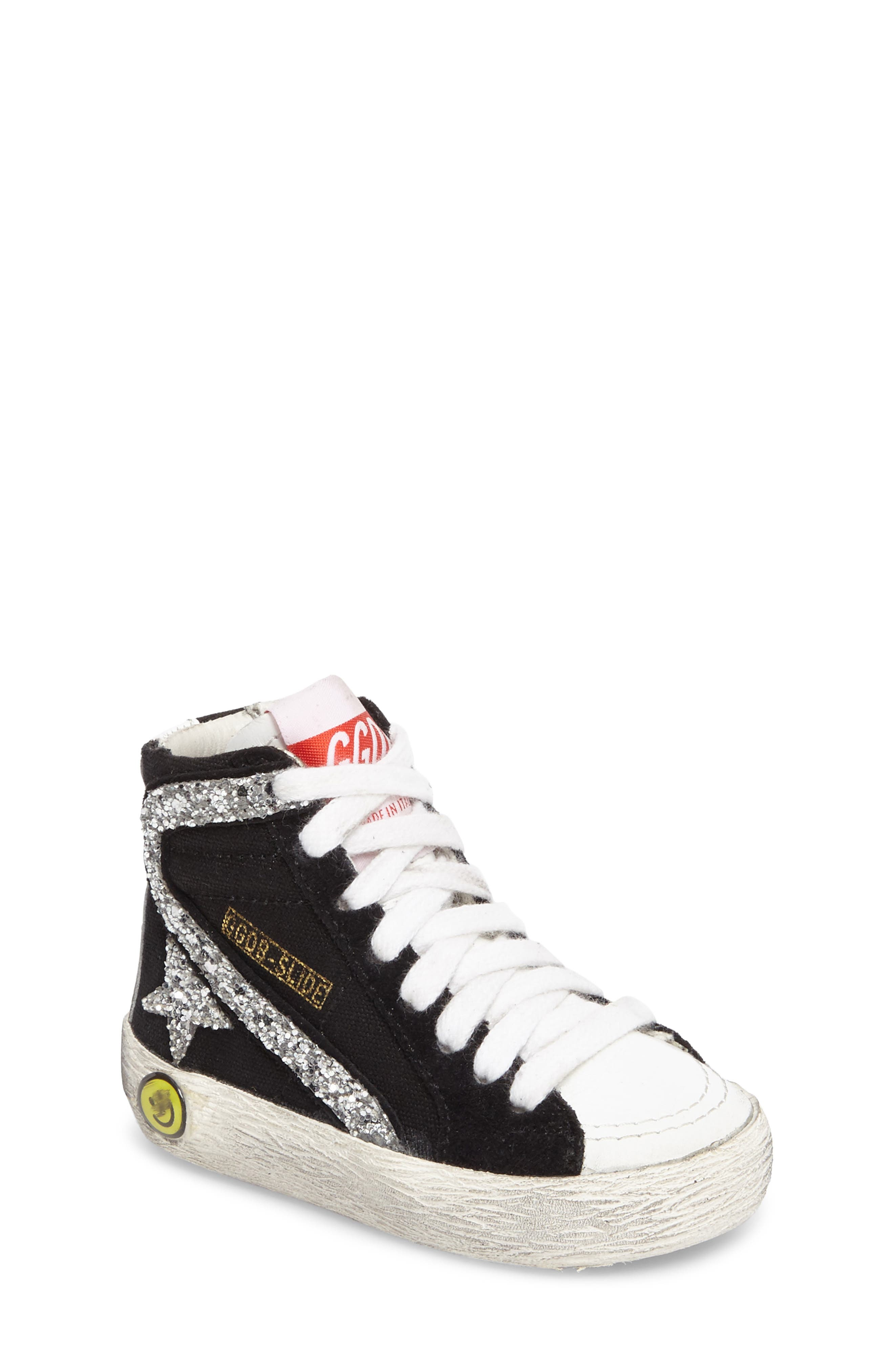 Golden Goose Slide Glittery High Top Sneaker (Baby, Walker, Toddler, Little Kid & Big Kid)