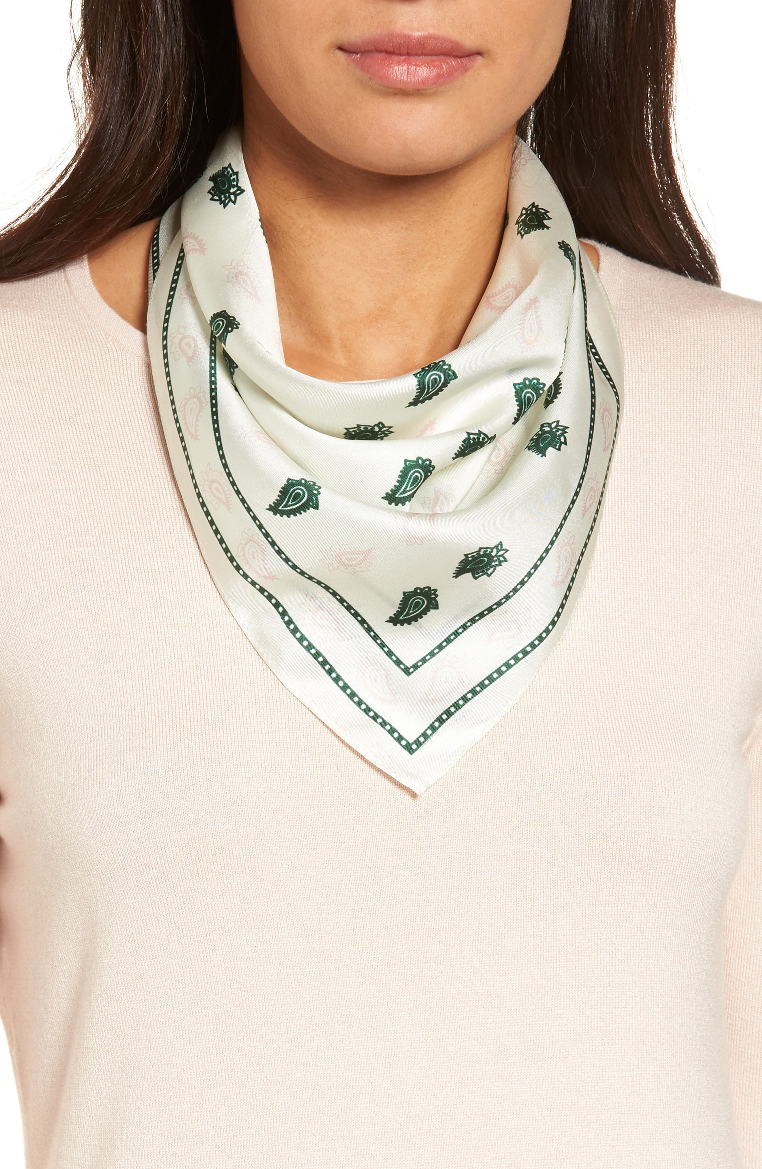 Alternate Image 1 Selected - Rebecca Minkoff Vertical Paisley Silk Bandana