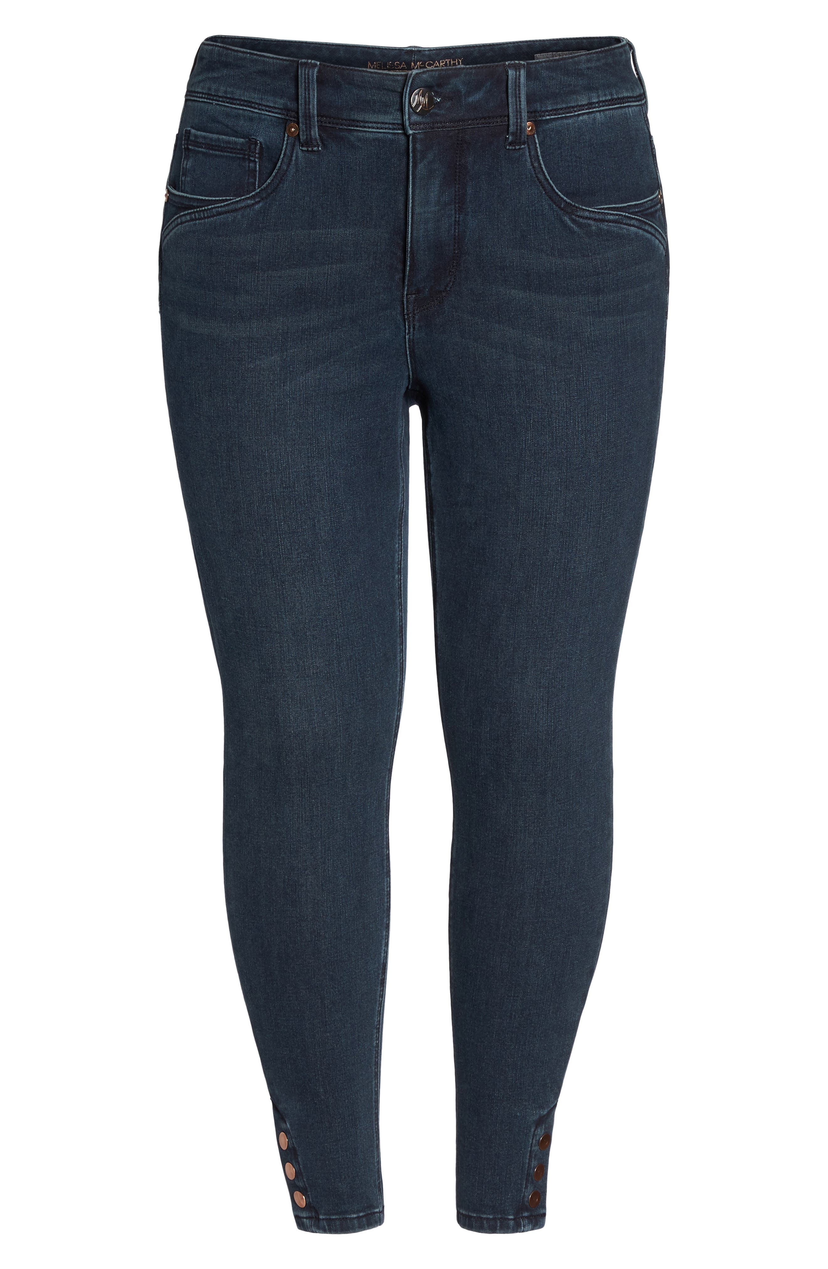 Alternate Image 6  - Melissa McCarthy Seven7 Snap Hem Pencil Jeans (Sasha) (Plus Size)