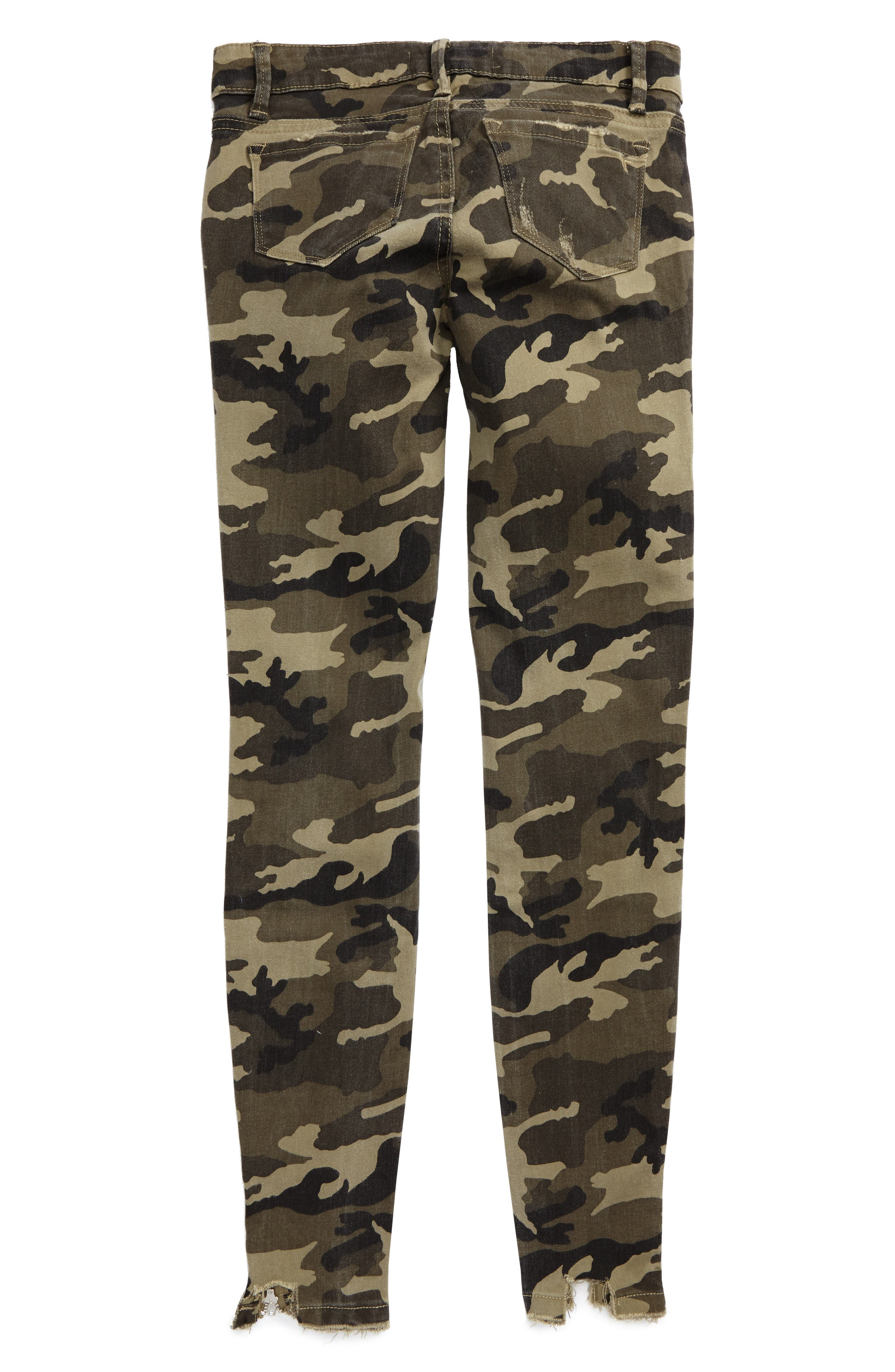 Alternate Image 2  - Tractr Camo Skinny Jeans (Big Girls)