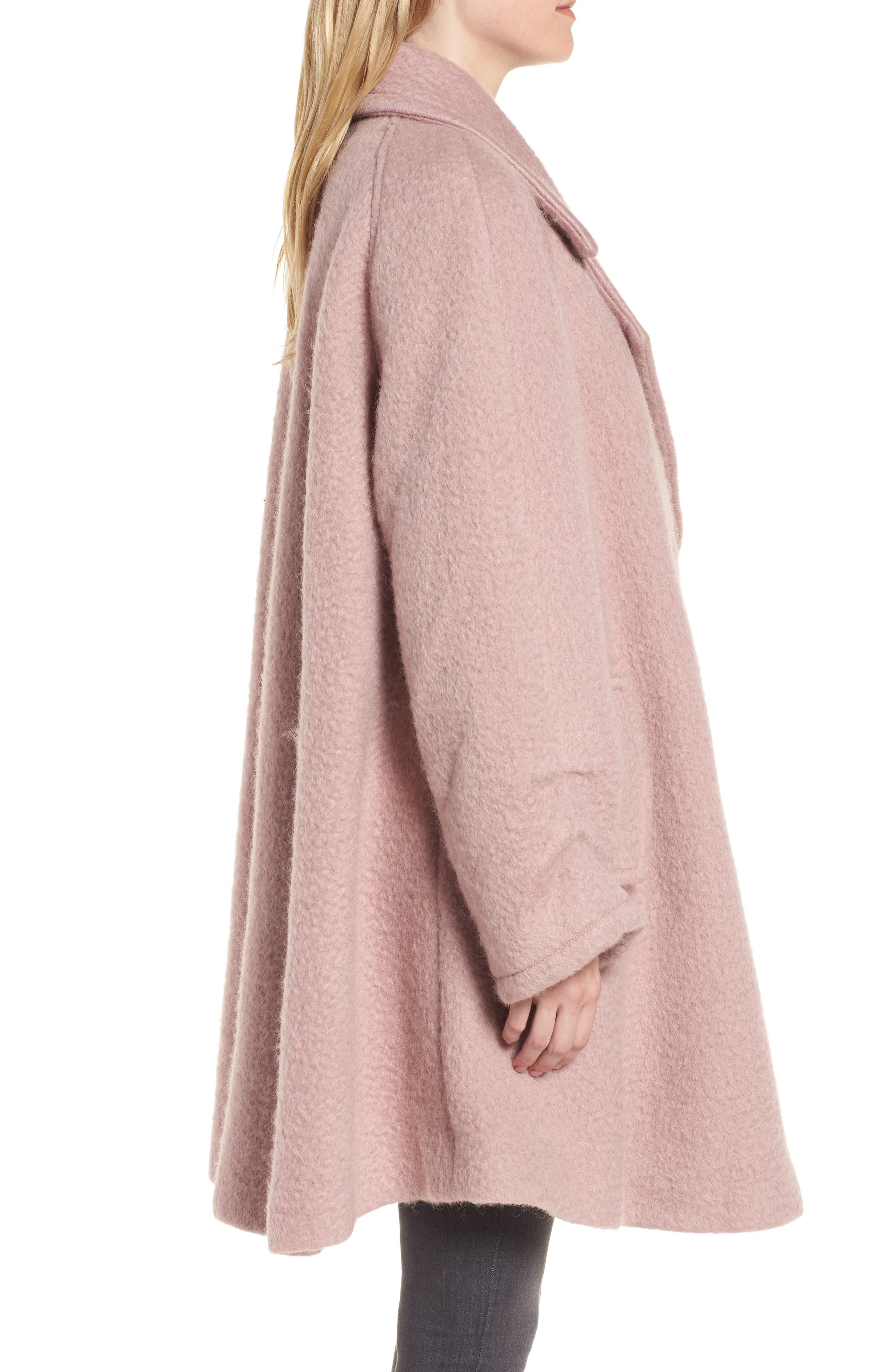 Swing Coat,                             Alternate thumbnail 3, color,                             Light Pink