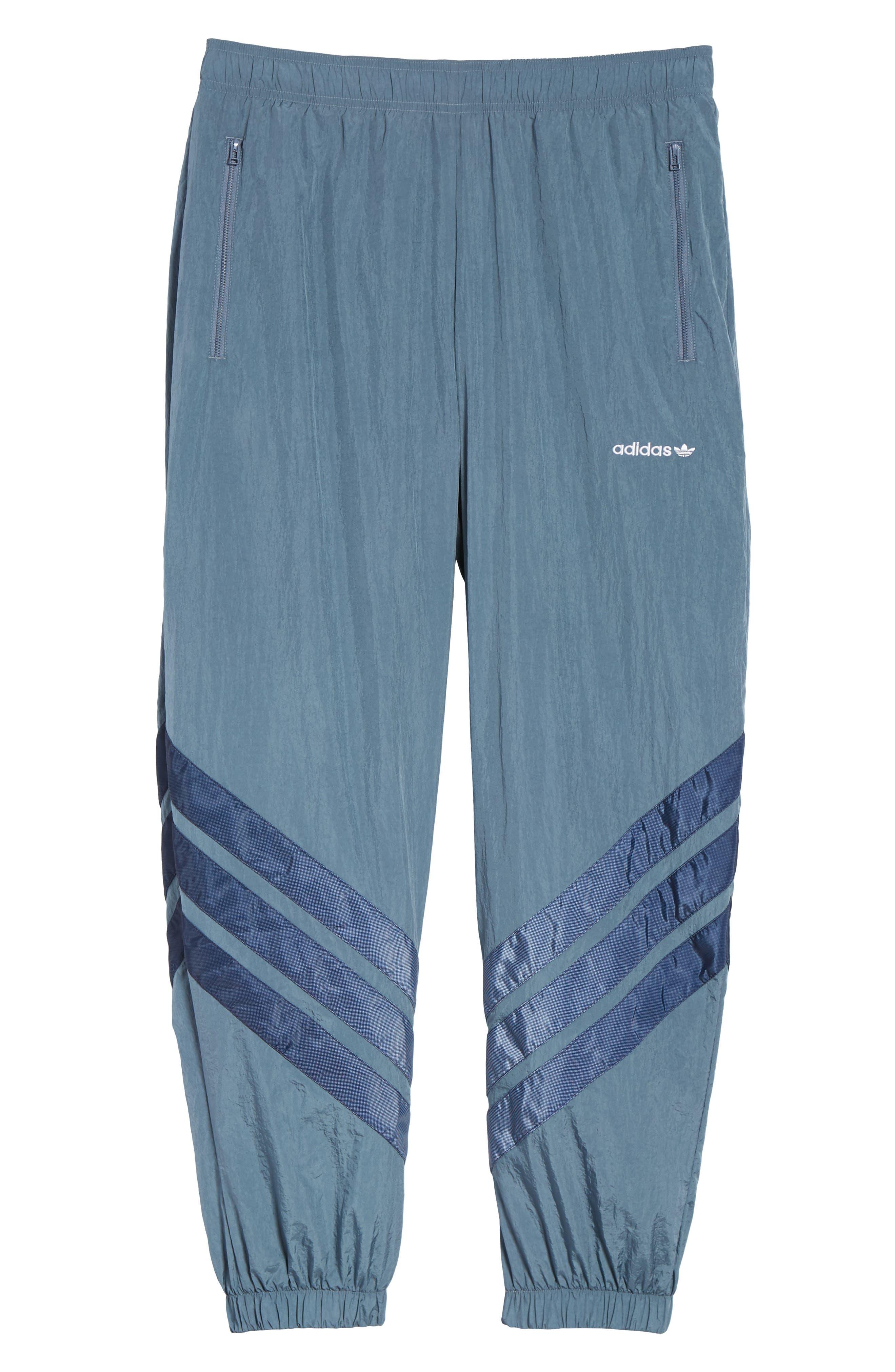 Originals V-Stripe Windpants,                             Alternate thumbnail 6, color,                             Raw Steel/ White