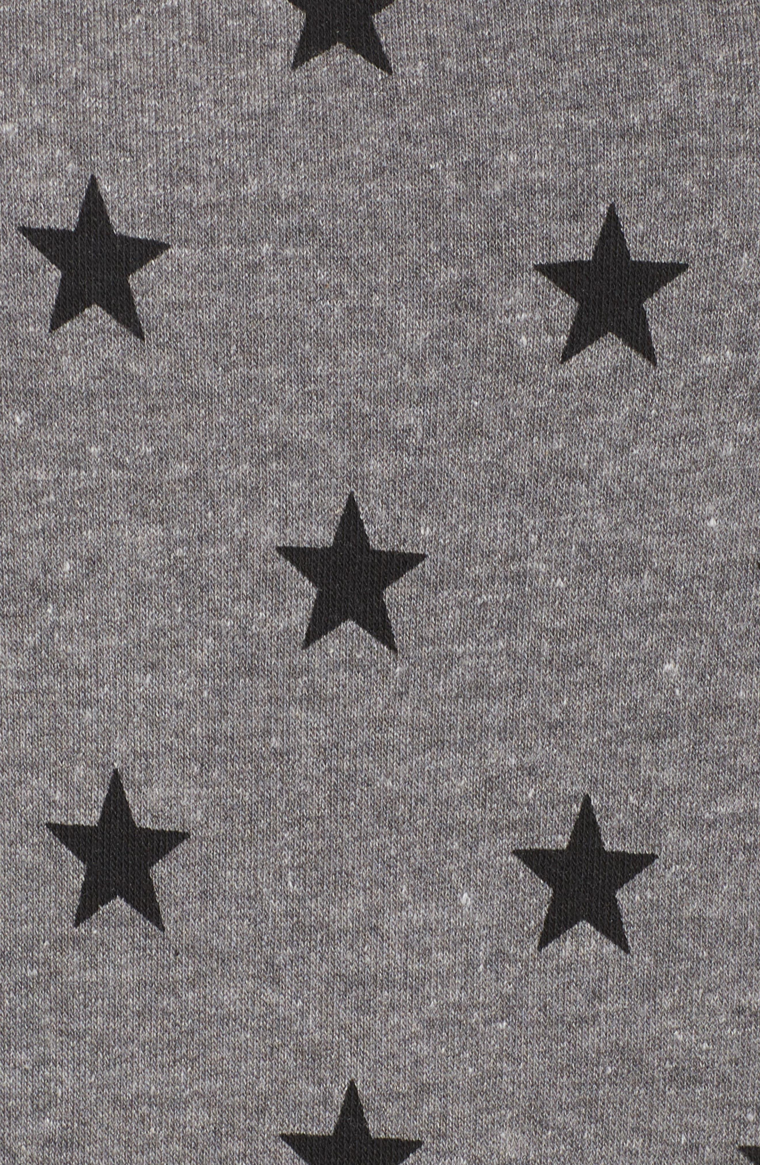 Maniac Camo Fleece Sweatshirt,                             Alternate thumbnail 5, color,                             Eco Grey Stars