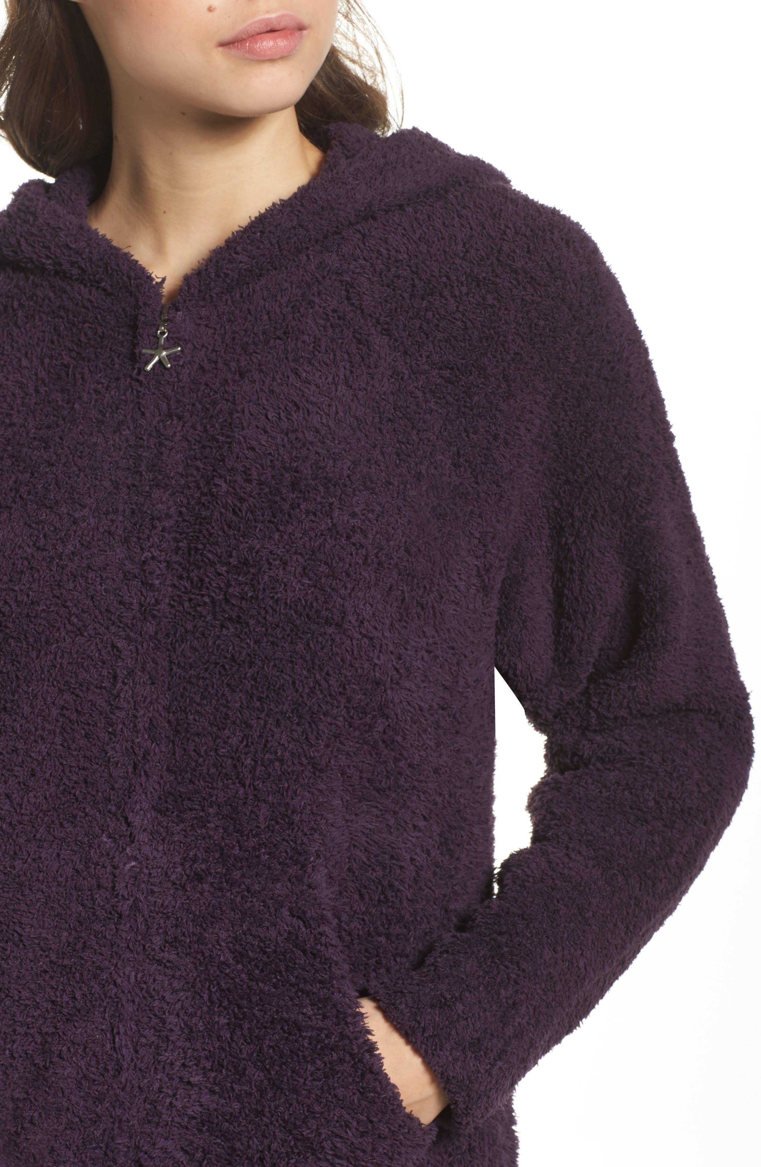 Alternate Image 4  - Barefoot Dreams® CozyChic® Hooded Zip Robe