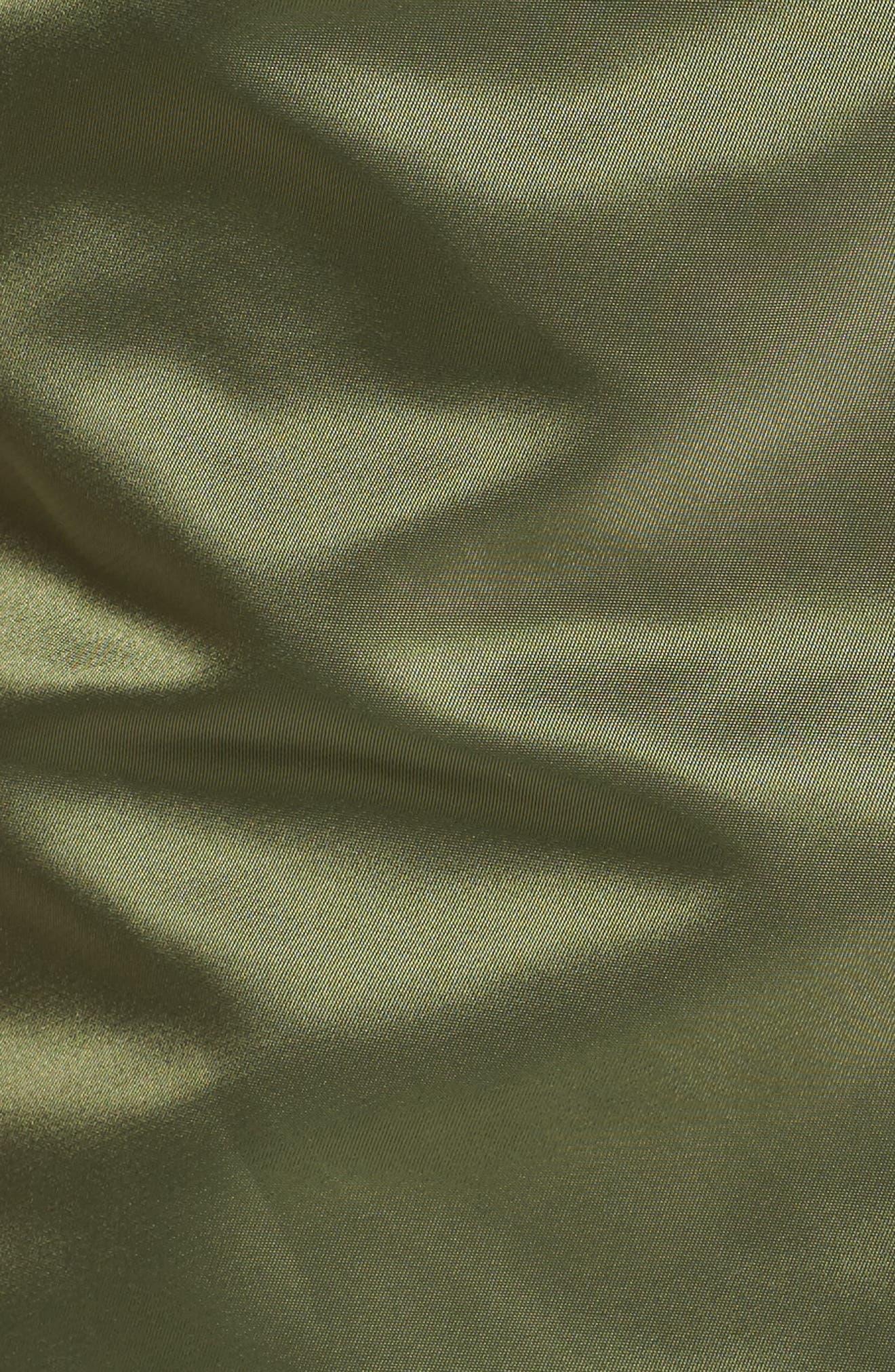 Elyse Water Resistant Winter Snorkel Parka with Faux-Fur Trim,                             Alternate thumbnail 6, color,                             Sage Green