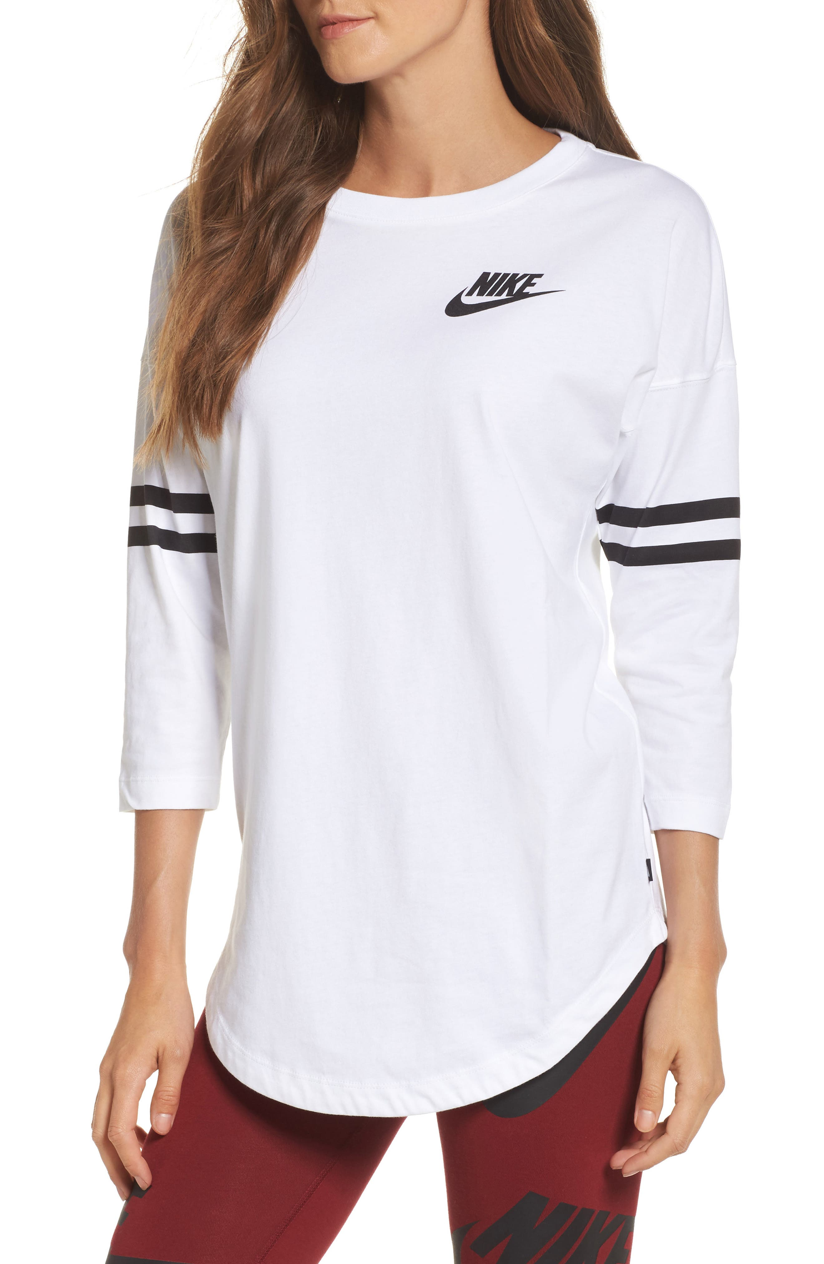 Just Do It Top,                         Main,                         color, White/ Black