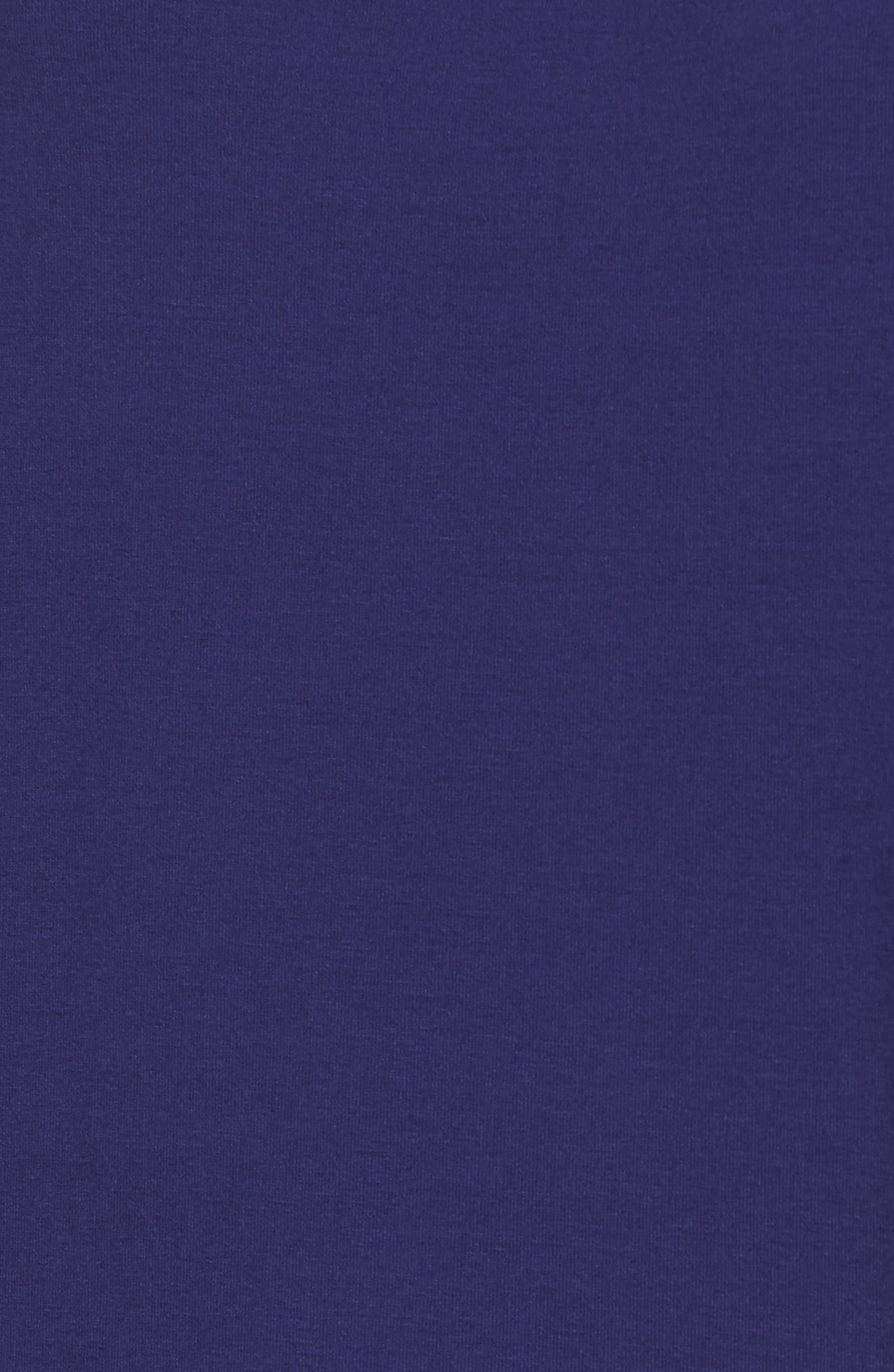 Jersey Ballet Neck Shift Dress,                             Alternate thumbnail 5, color,                             Ultramarine
