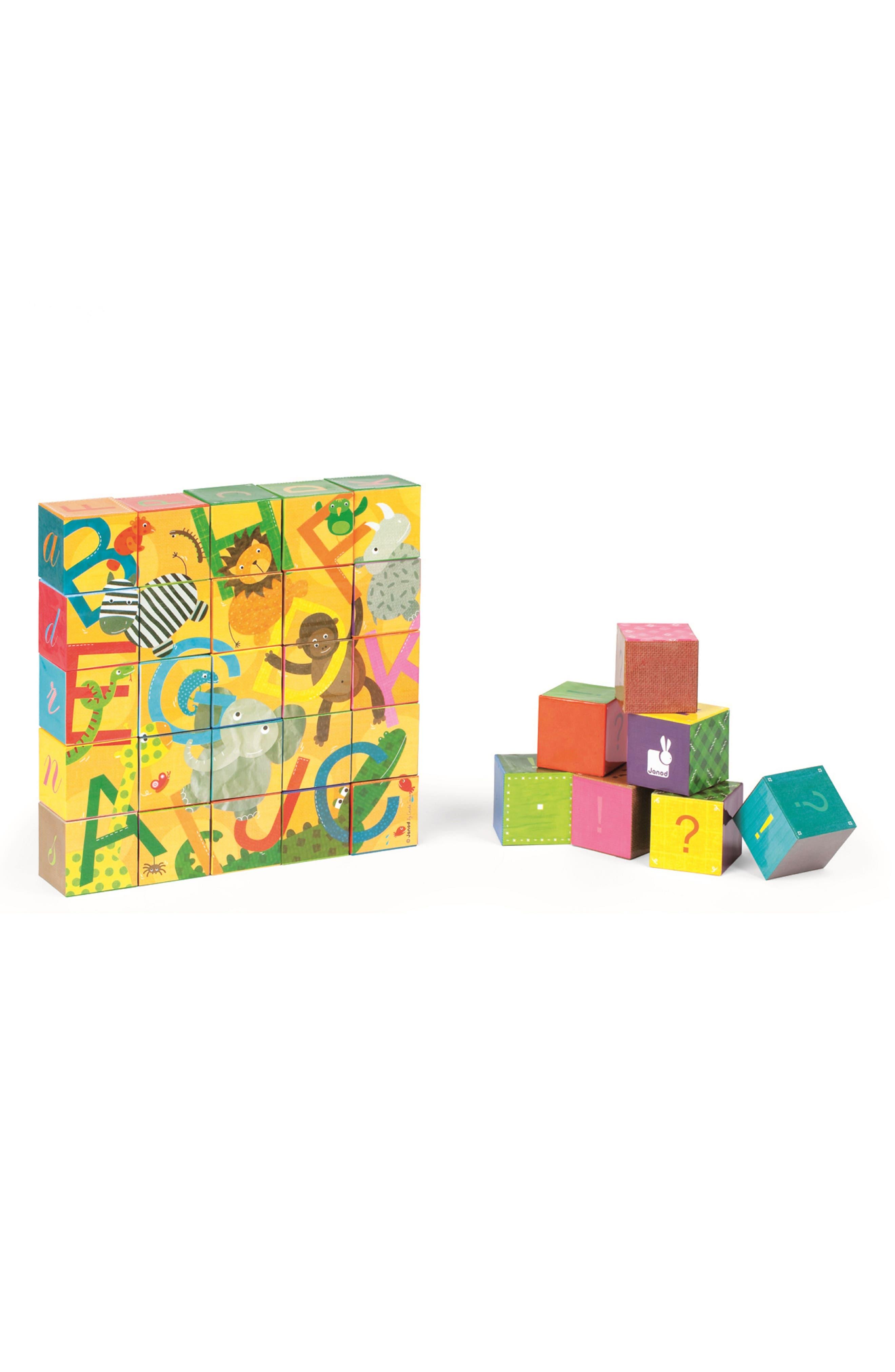 Kubkid 32-Piece Block Set,                             Alternate thumbnail 5, color,                             Orange Multi