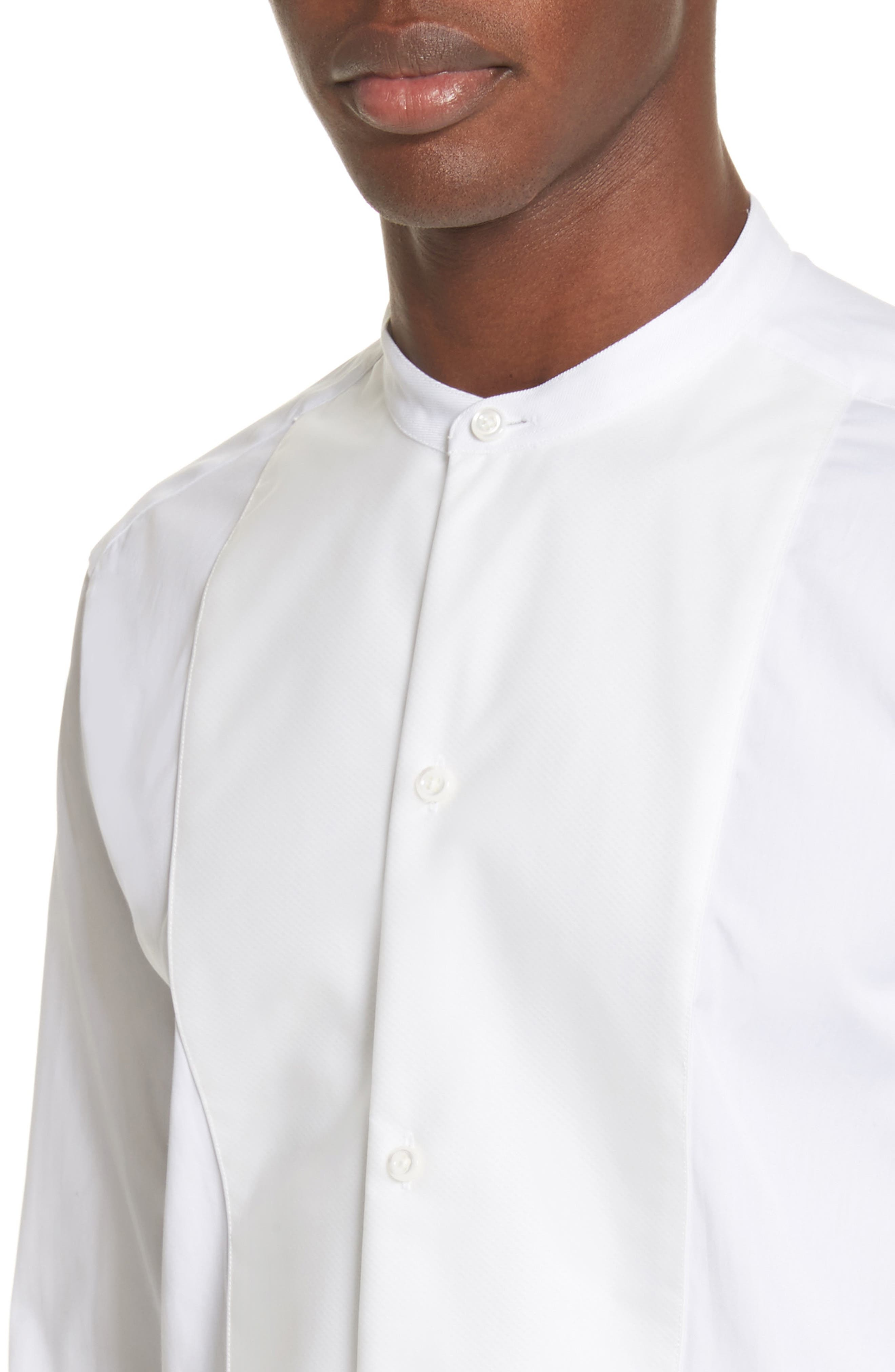 Bib Detail Sport Shirt,                             Alternate thumbnail 4, color,                             White