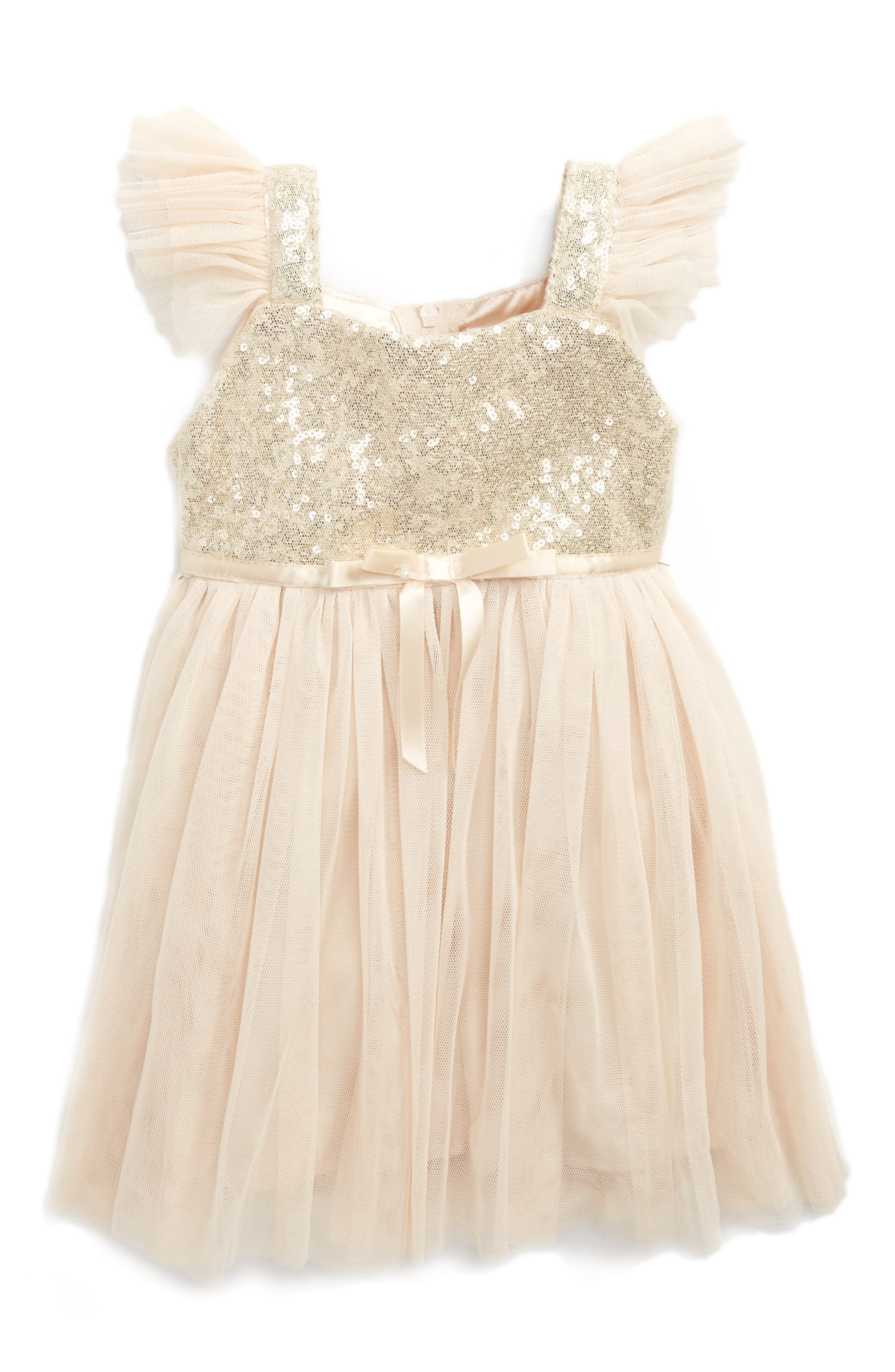 Popatu Sequin Bodice Tulle Dress (Baby Girls)