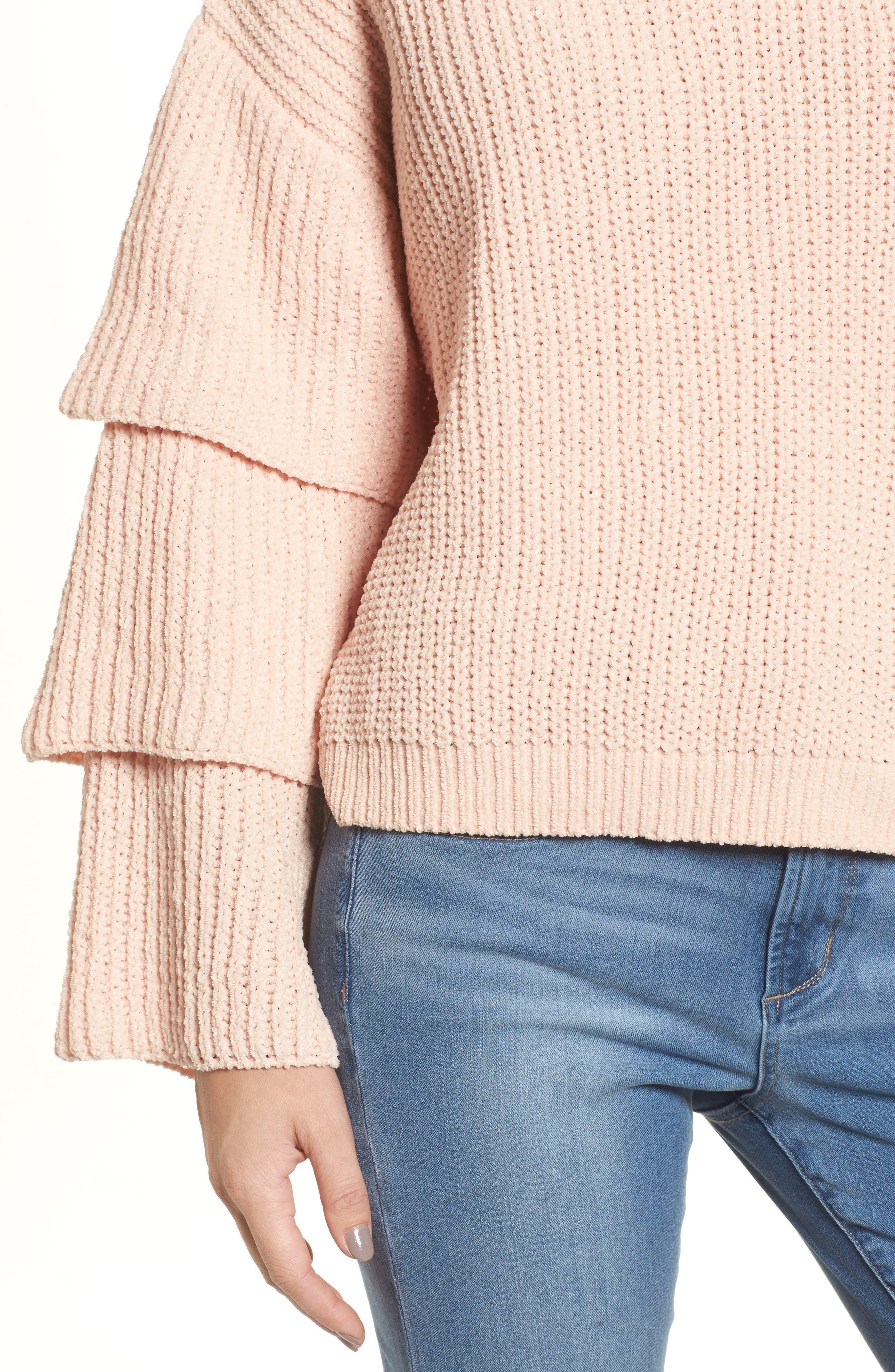 Alternate Image 4  - Woven Heart Triple Ruffle Sweater
