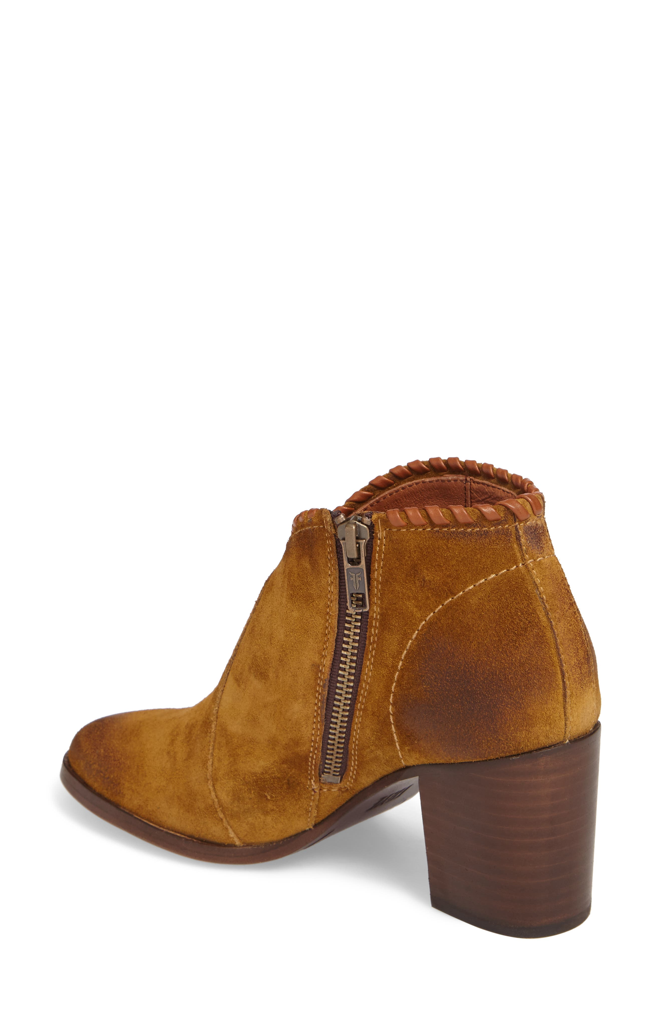 Nora Whipstitch Bootie,                             Alternate thumbnail 2, color,                             Wheat