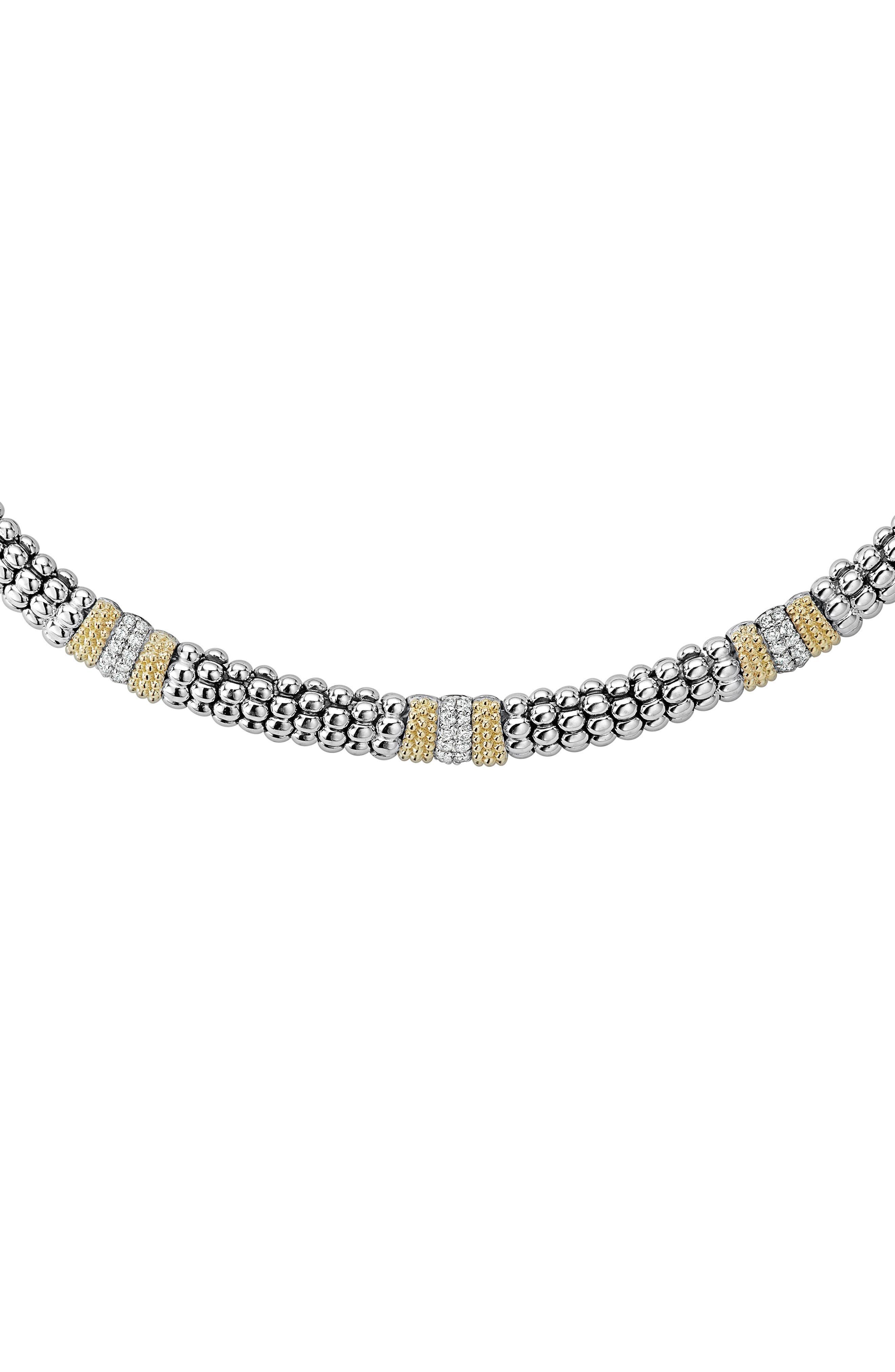 Main Image - LAGOS Diamond Lux Triple Station Collar Necklace
