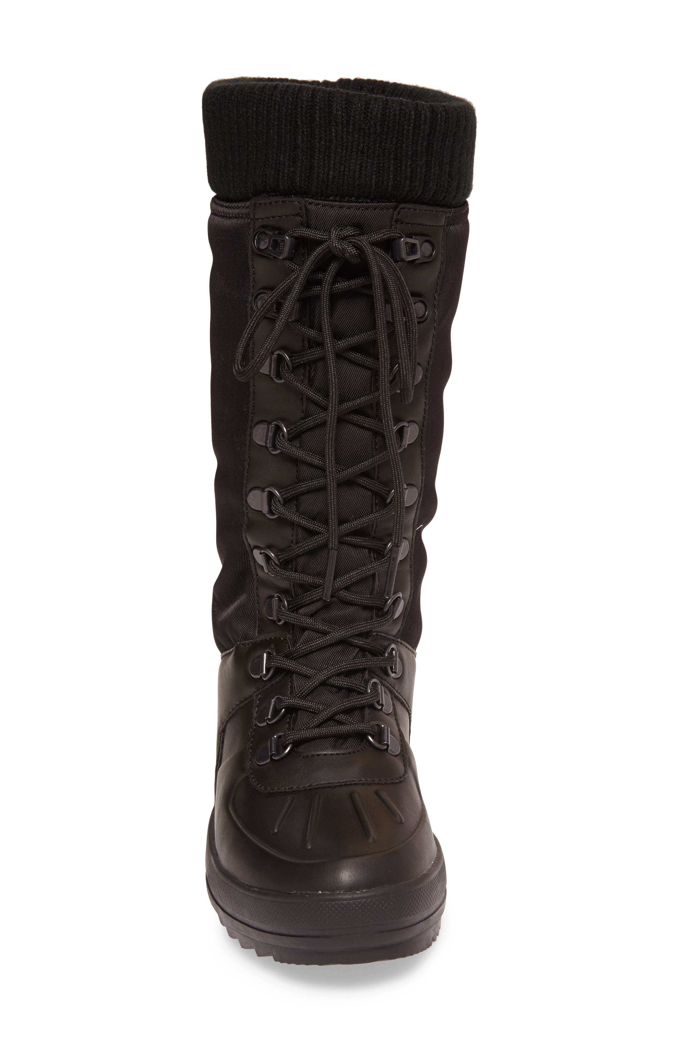 Vancouver Waterproof Winter Boot,                             Alternate thumbnail 4, color,                             Black All Over