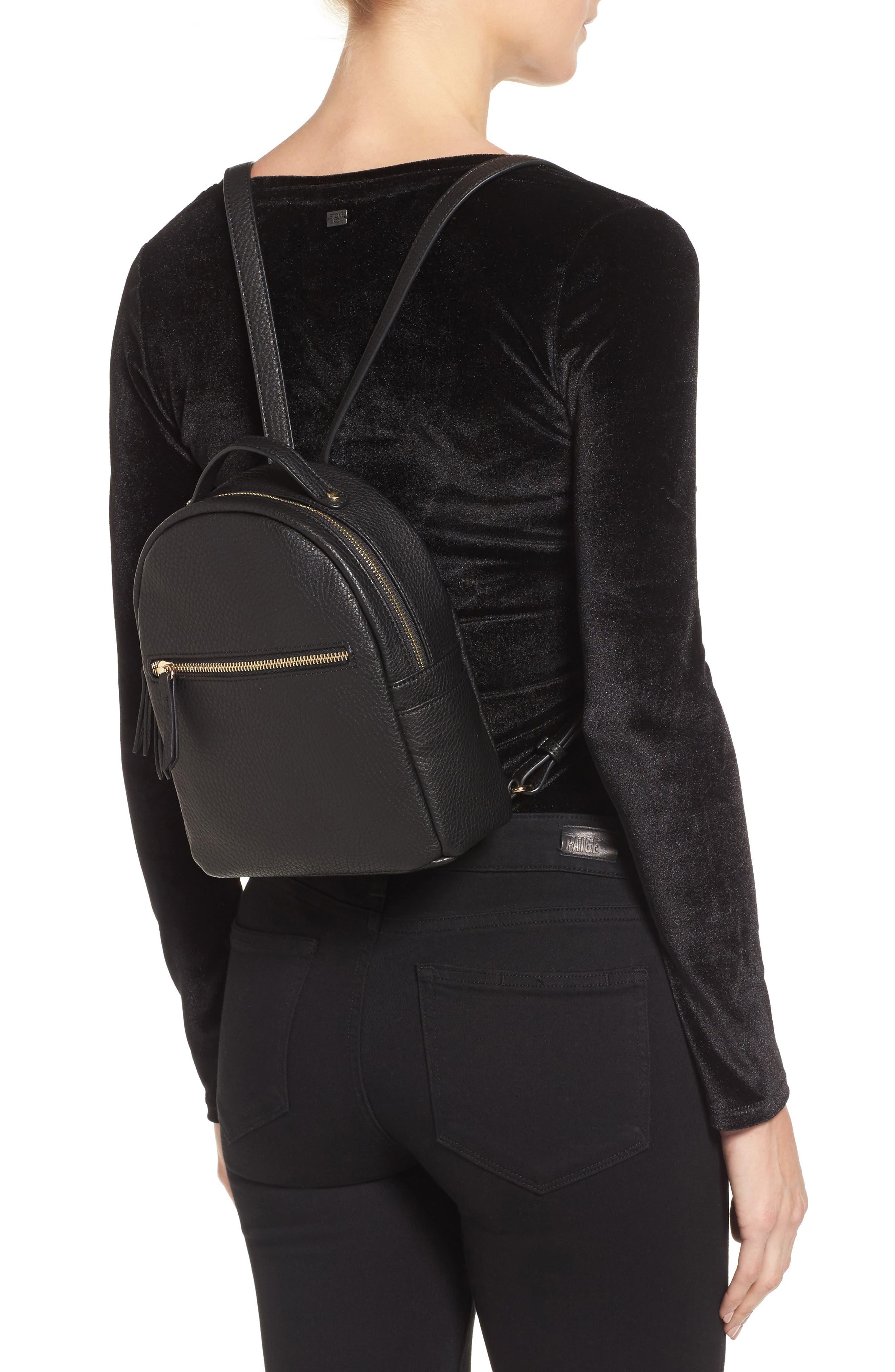 Alternate Image 2  - Mali + Lili Faux Leather Backpack
