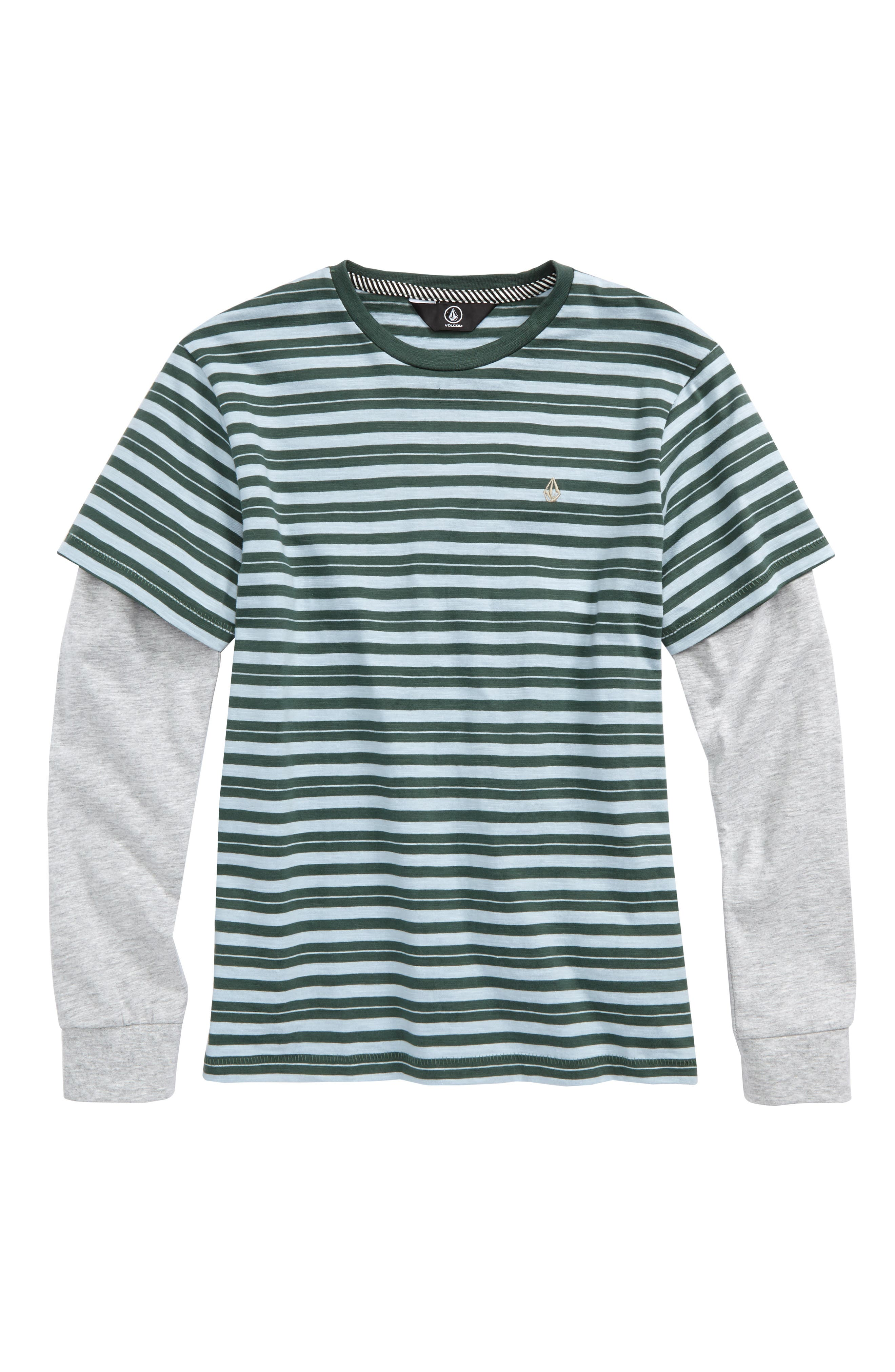 Alternate Image 1 Selected - Volcom Impact Twofer Layered T-Shirt (Big Boys)
