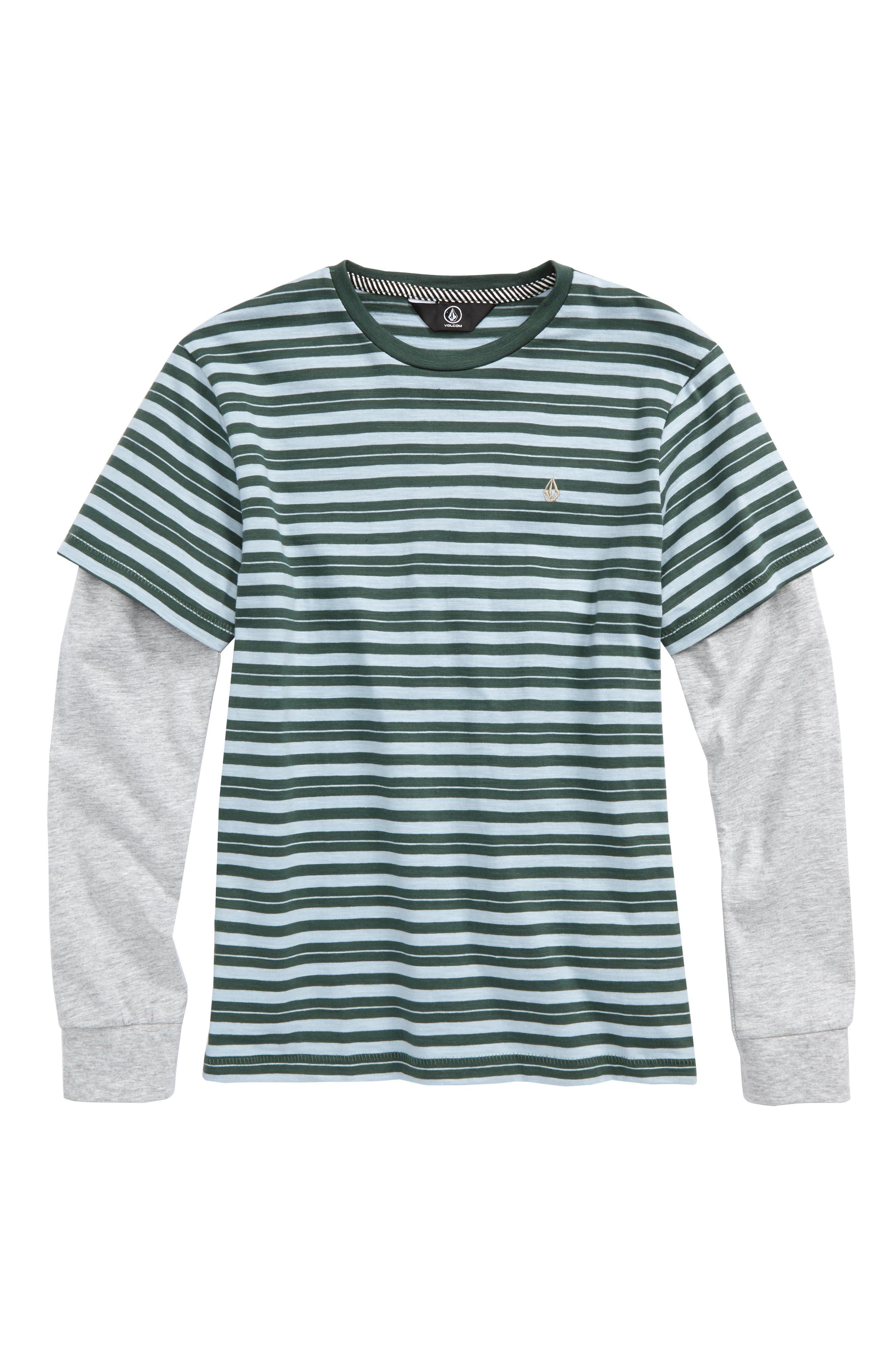 Main Image - Volcom Impact Twofer Layered T-Shirt (Big Boys)