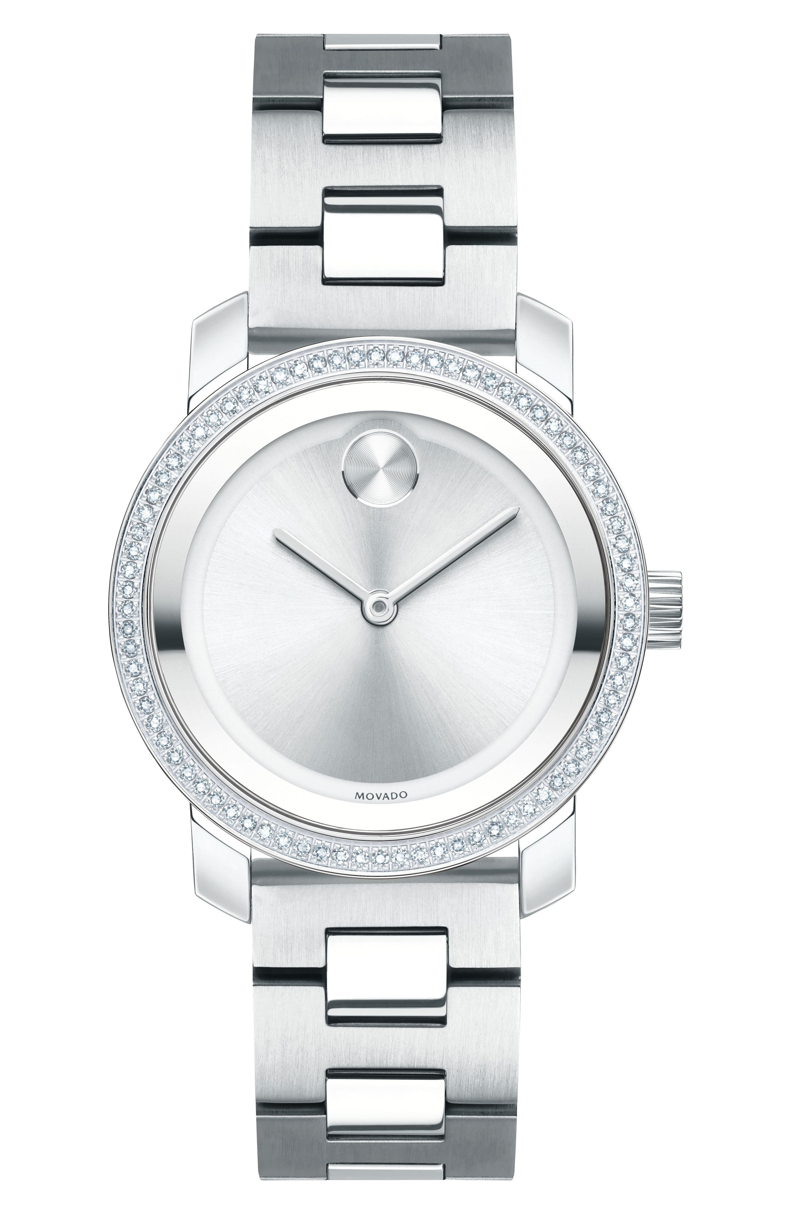 Movado Bold Diamond Bezel Bracelet Watch