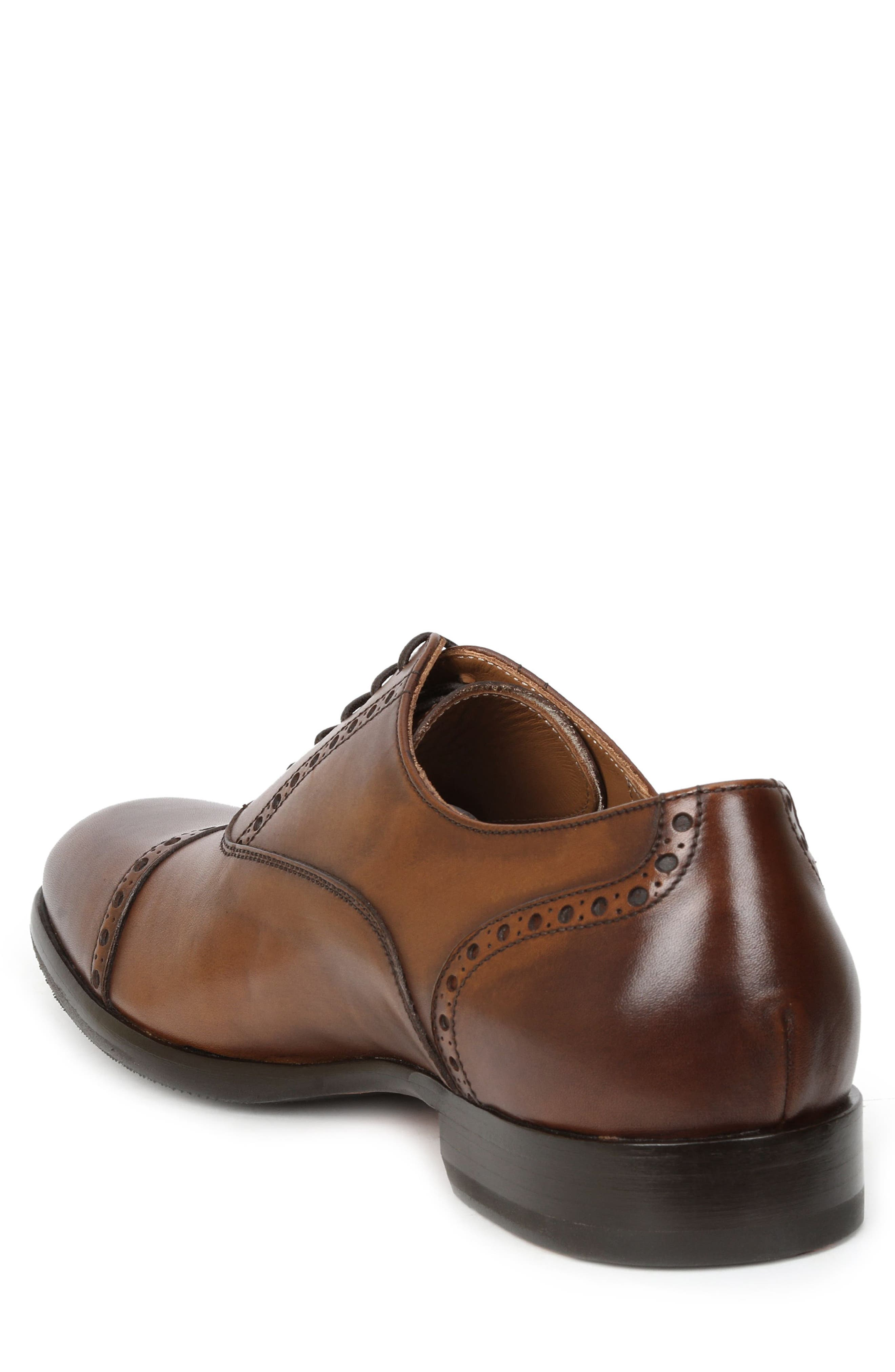 Pisa Cap Toe Oxford,                             Alternate thumbnail 2, color,                             Cognac