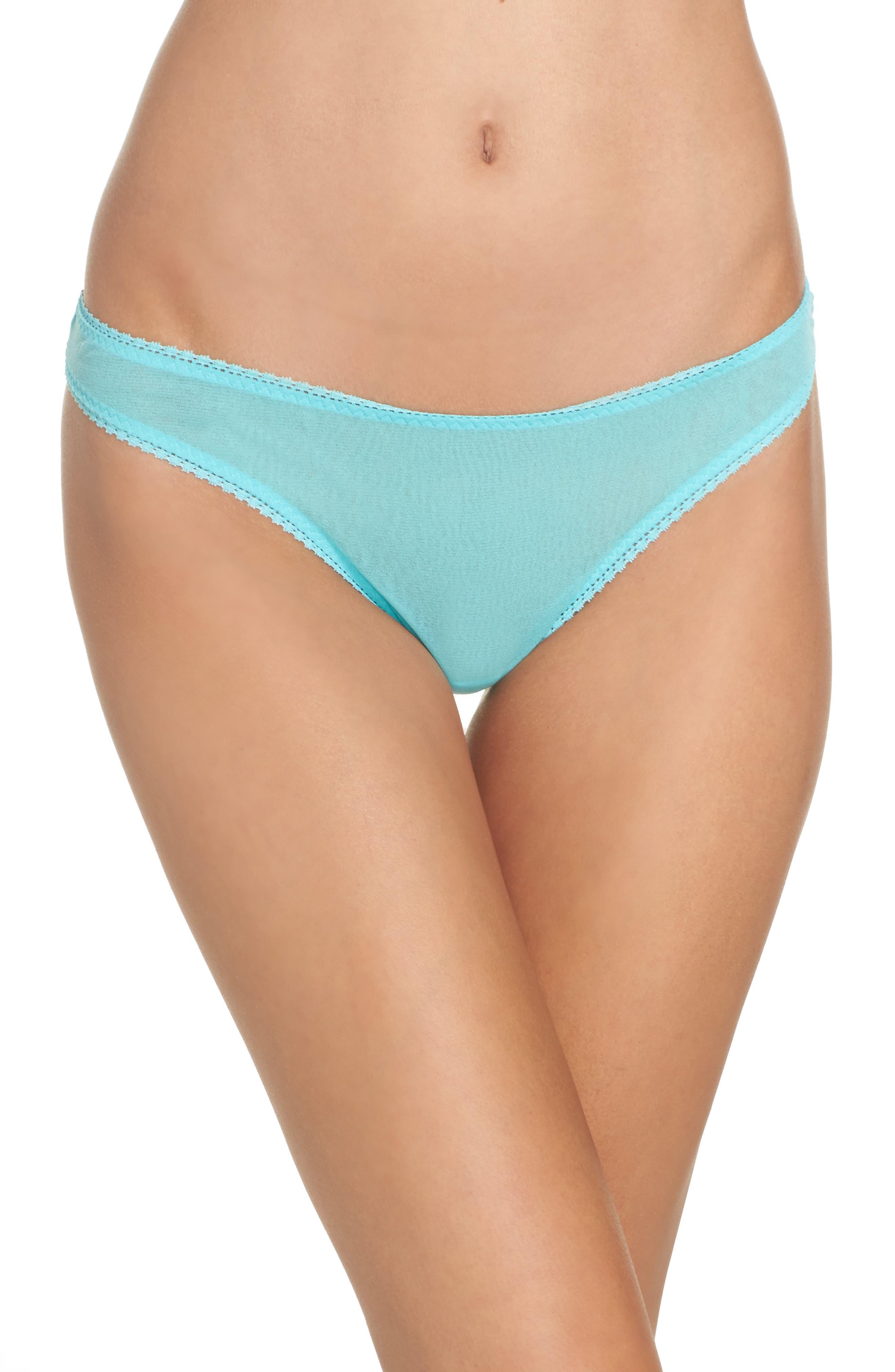 'Hip-G' Mesh Thong,                         Main,                         color, Blue Radiance