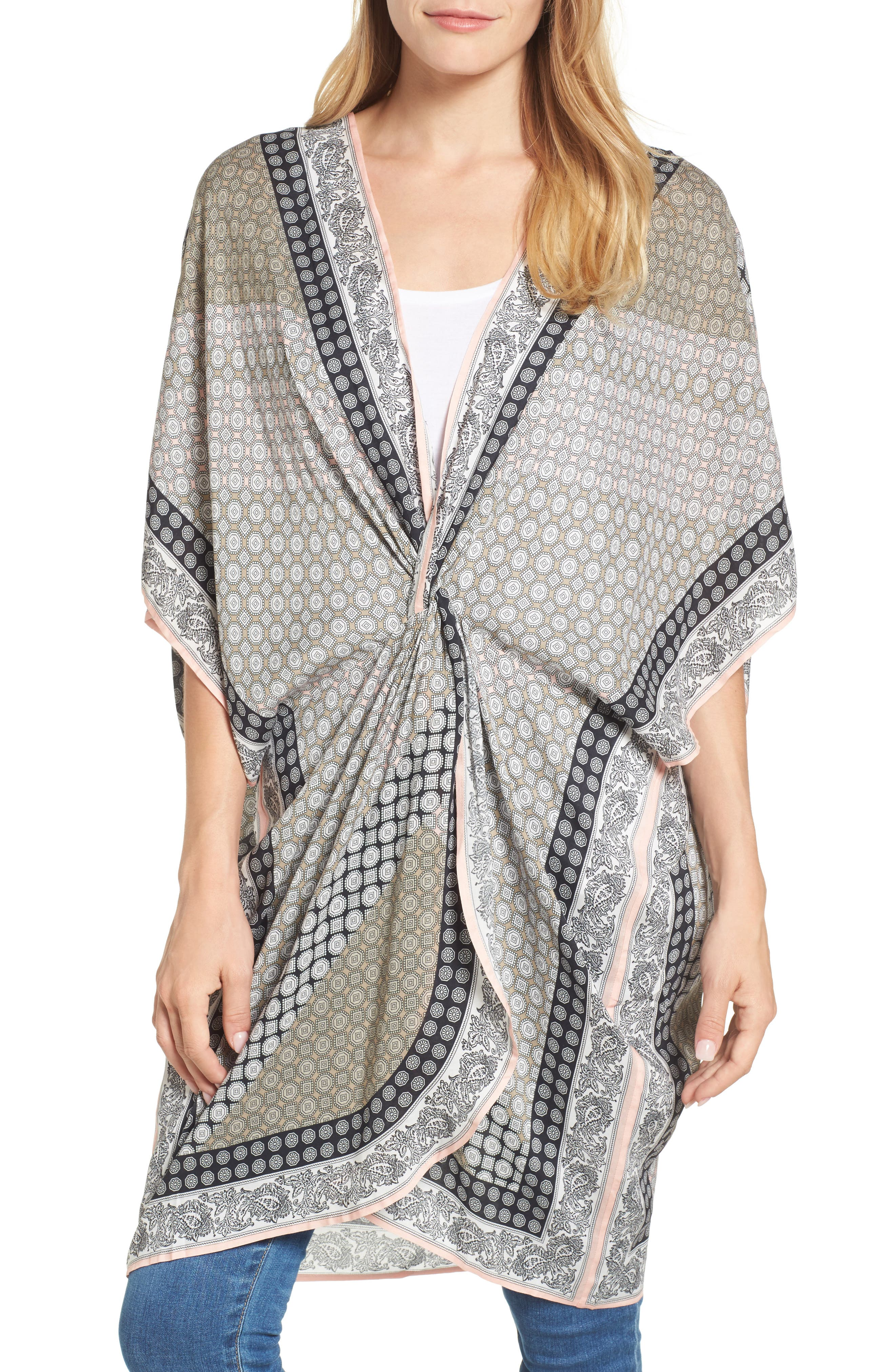 Echo Harbour Foulard Twist Cover-Up Caftan