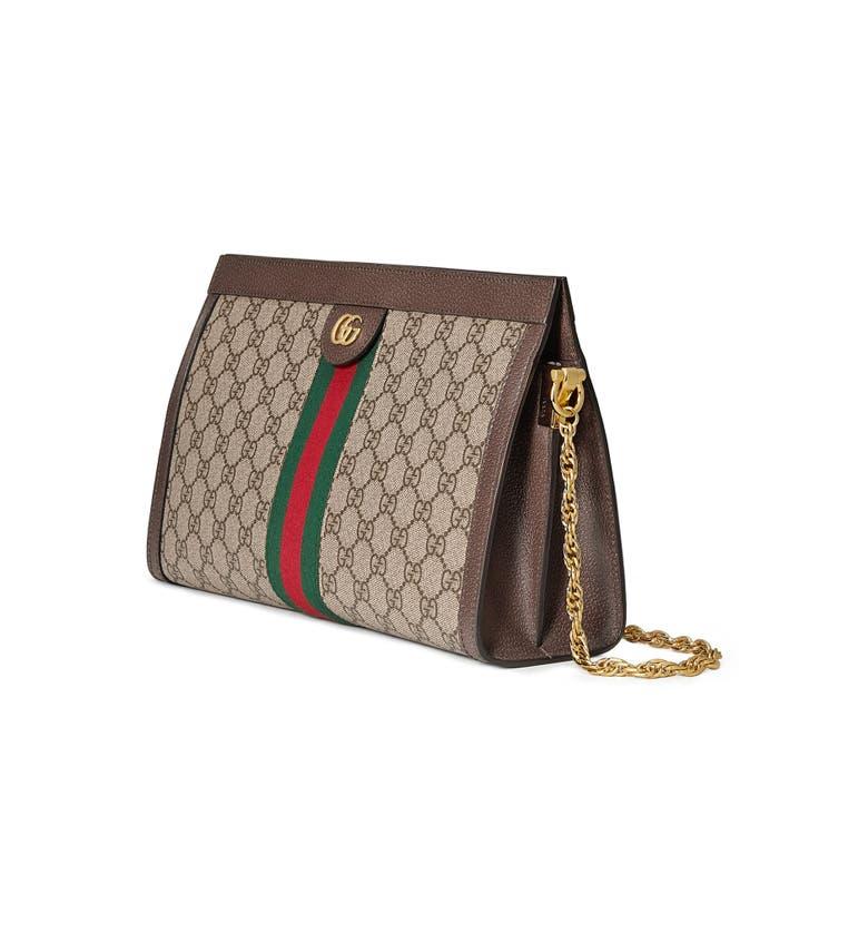 153203d51c1498 Gucci Linea Dragoni Medium Gg Supreme Canvas Chain Shoulder Bag | ModeSens