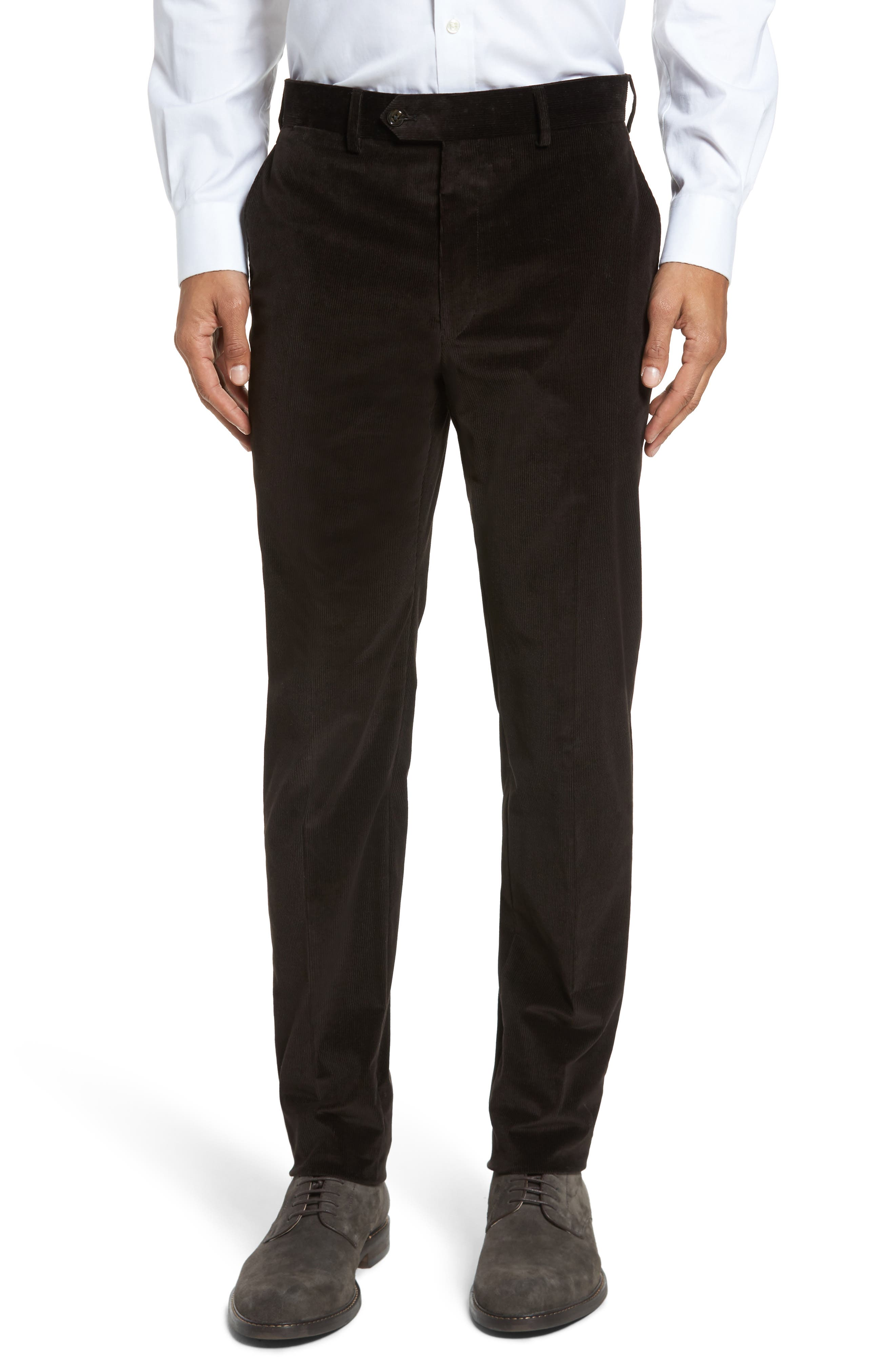Todd Snyder White Label Sutton Flat Front Stretch Cotton Corduroy Trousers