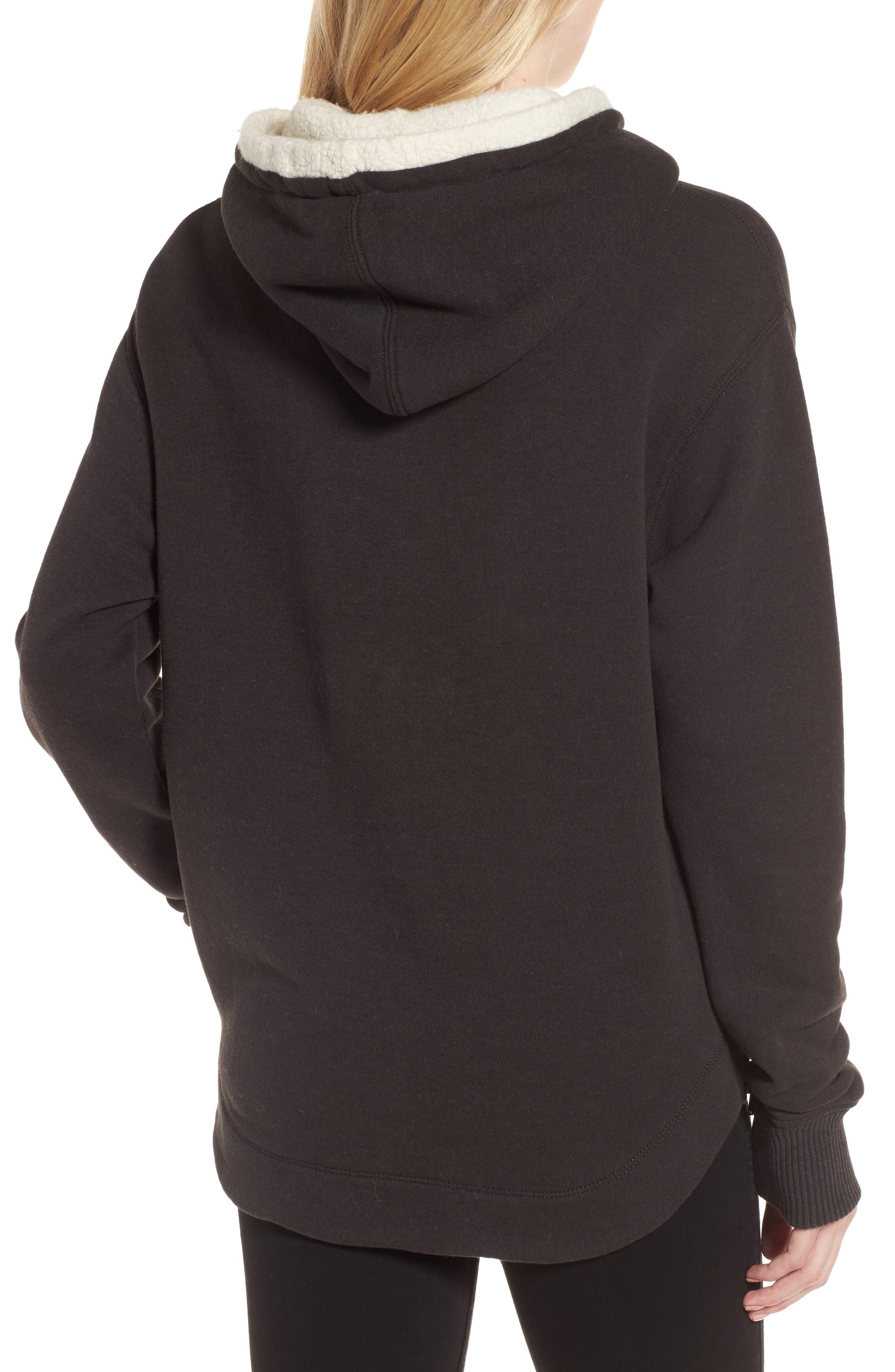 Fleece Lined Hoodie,                             Alternate thumbnail 2, color,                             Carbon