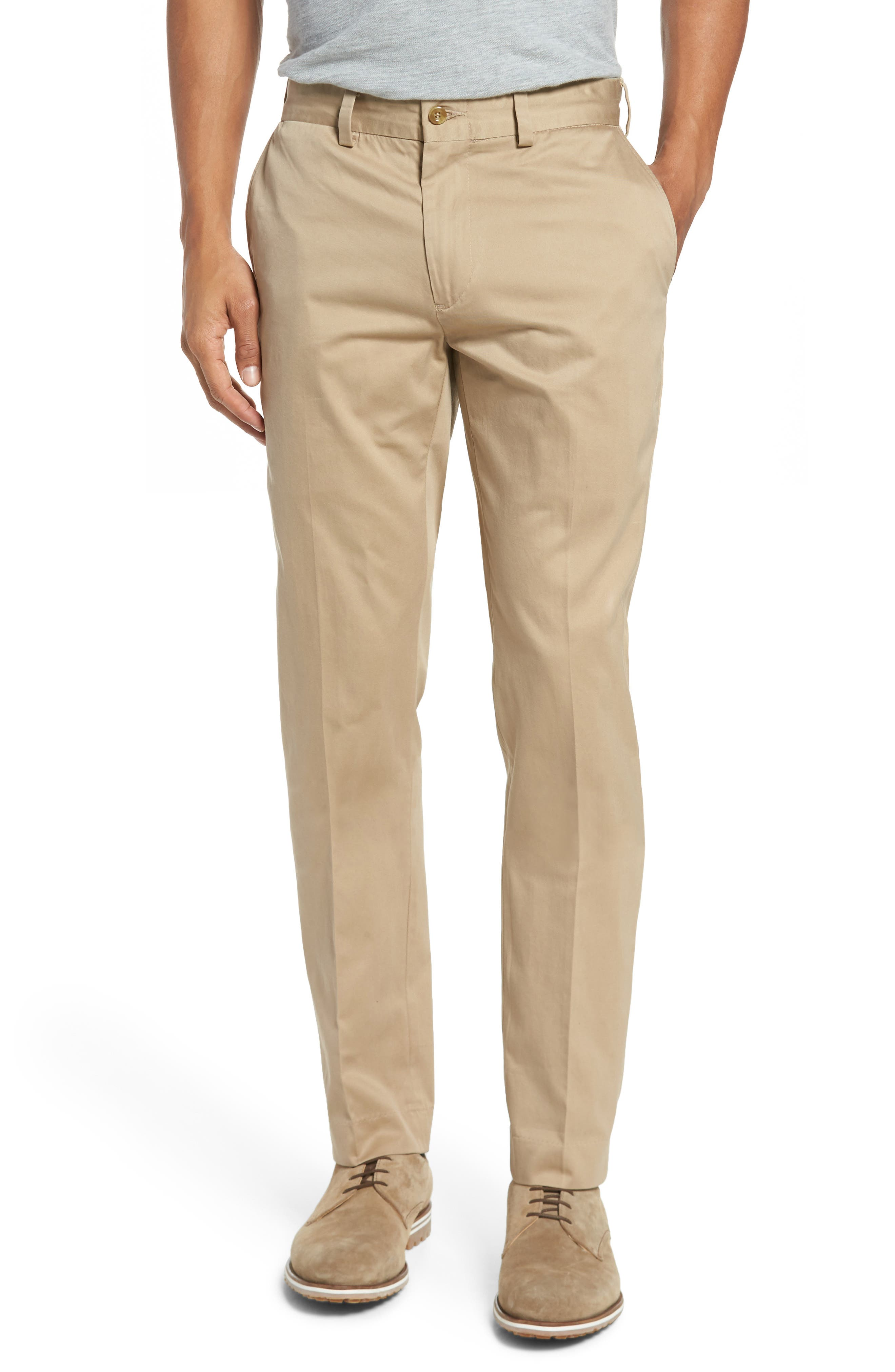 Slim Fit Chamois Cloth Pants,                         Main,                         color, Camel