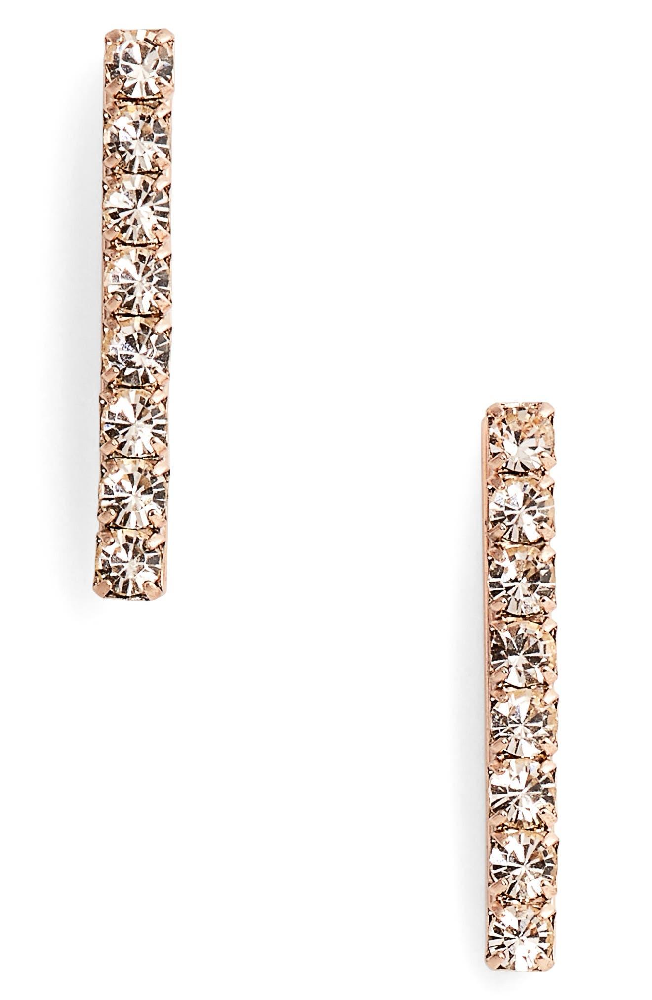 Alternate Image 1 Selected - Loren Hope Paige Bar Stud Earrings