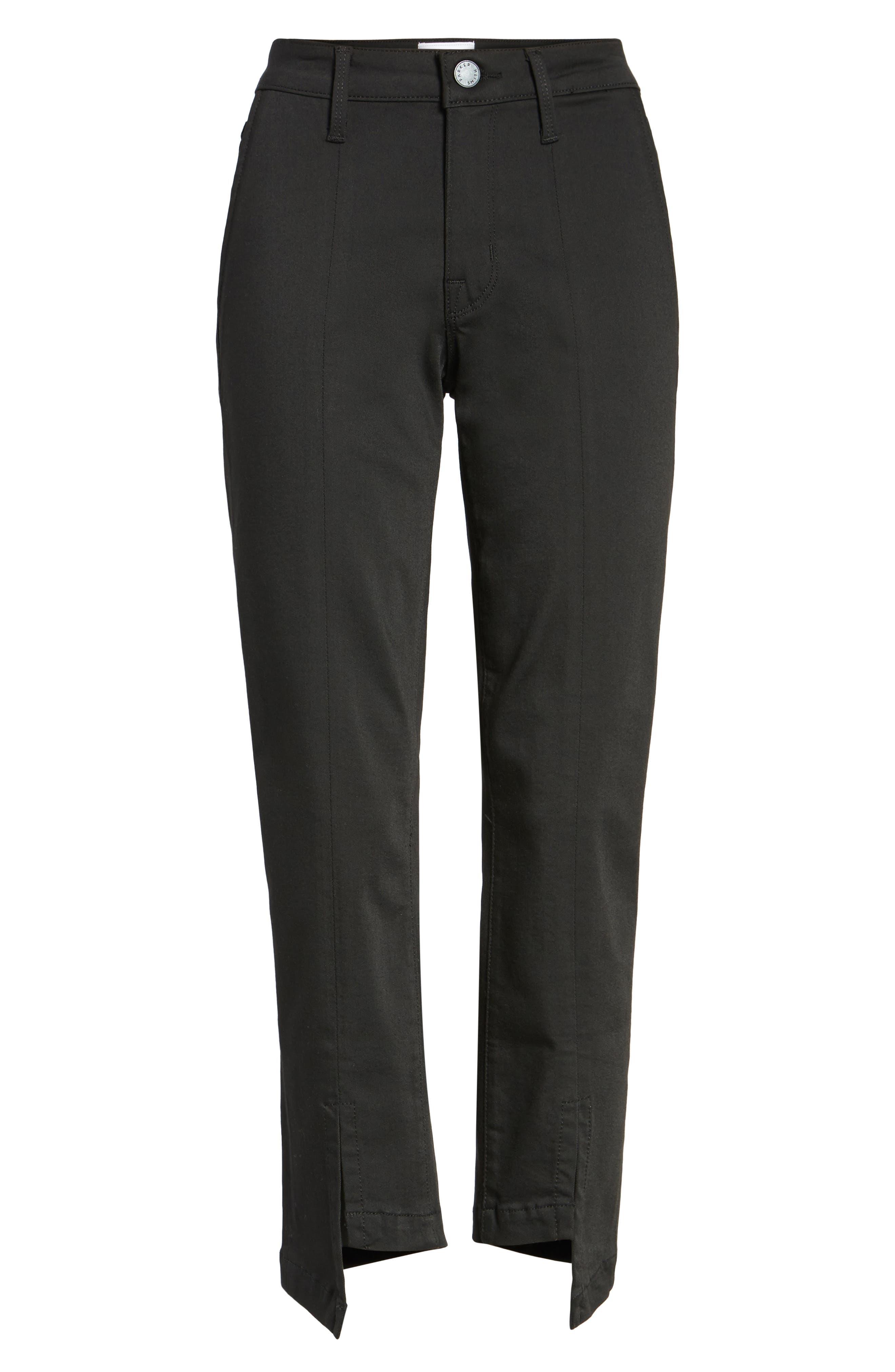 PARKER Novak Slit Hem Trouser Jeans,                             Alternate thumbnail 6, color,                             Eternal Black