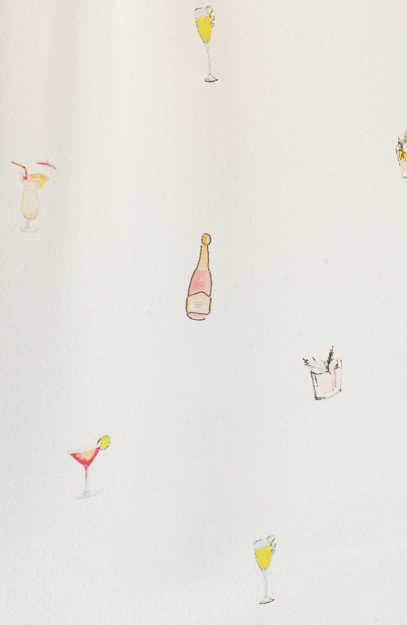Kate Print Silk Blouse,                             Alternate thumbnail 5, color,                             Happy Hour