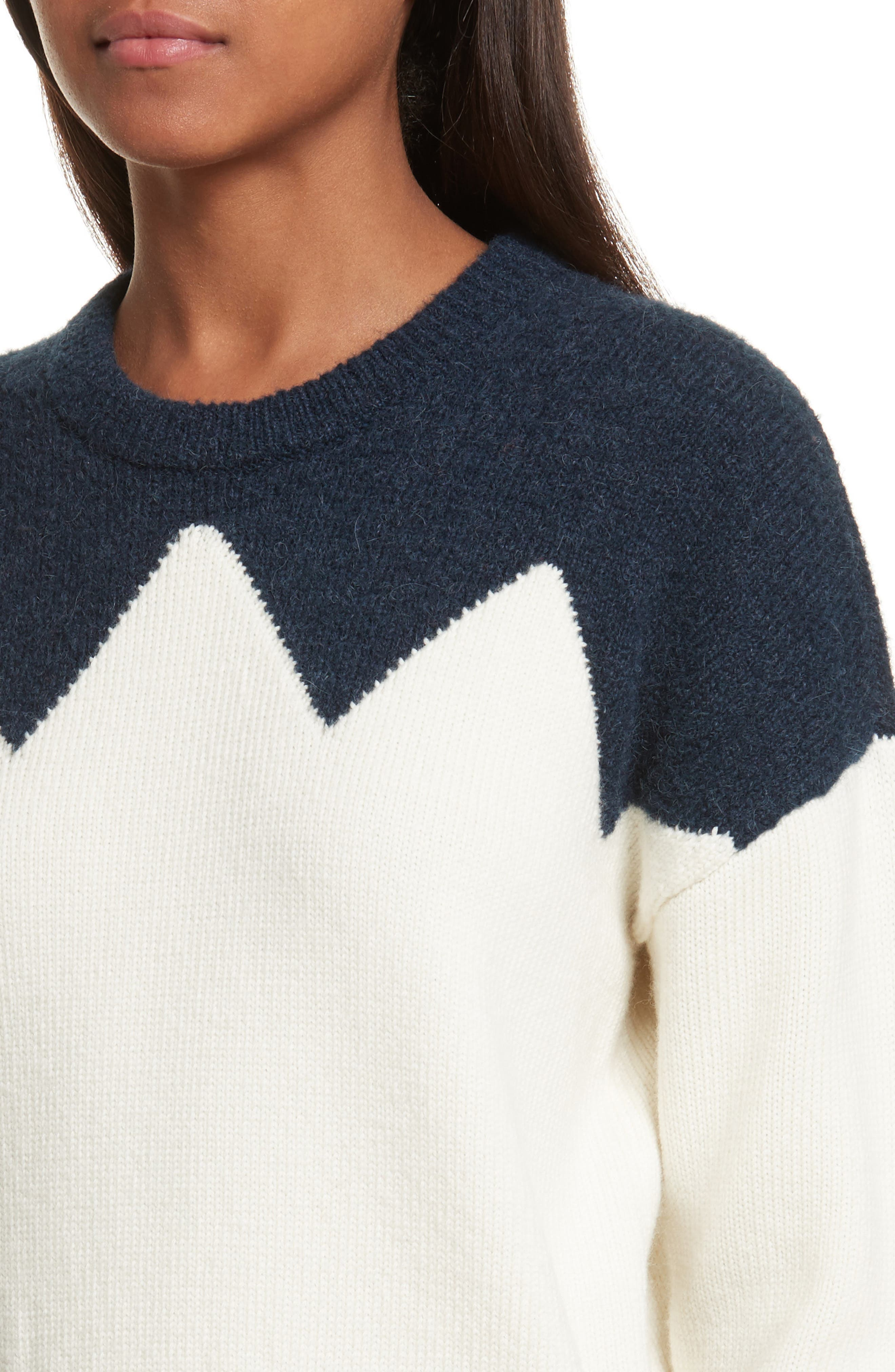 Alternate Image 4  - Tory Burch Hannah Wool Blend Sweater