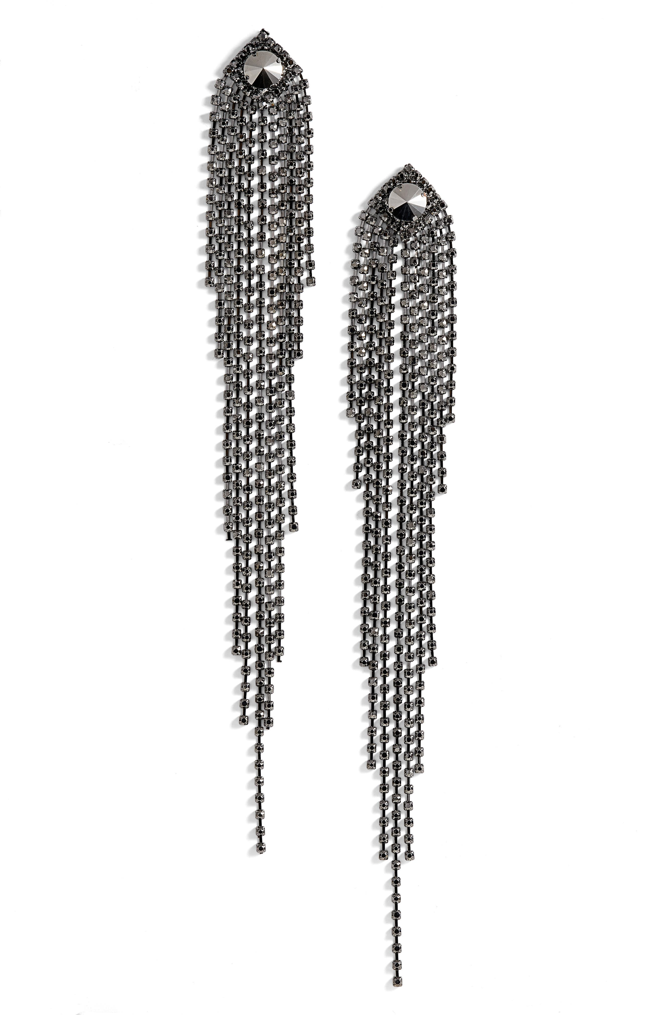 Natasha Couture Drama Crystal Shoulder Duster Earrings
