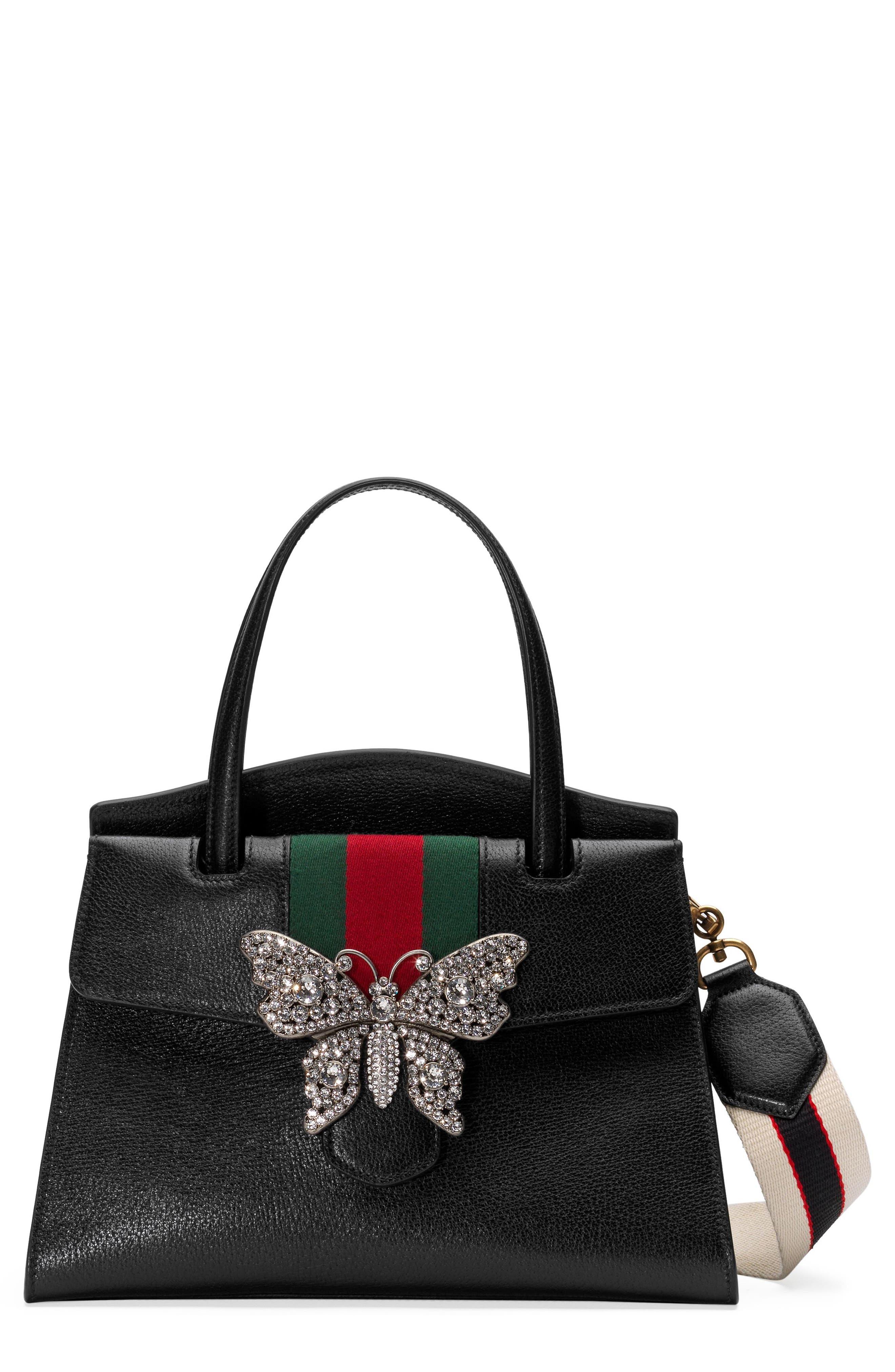 Gucci Medium Linea Totem Leather Satchel