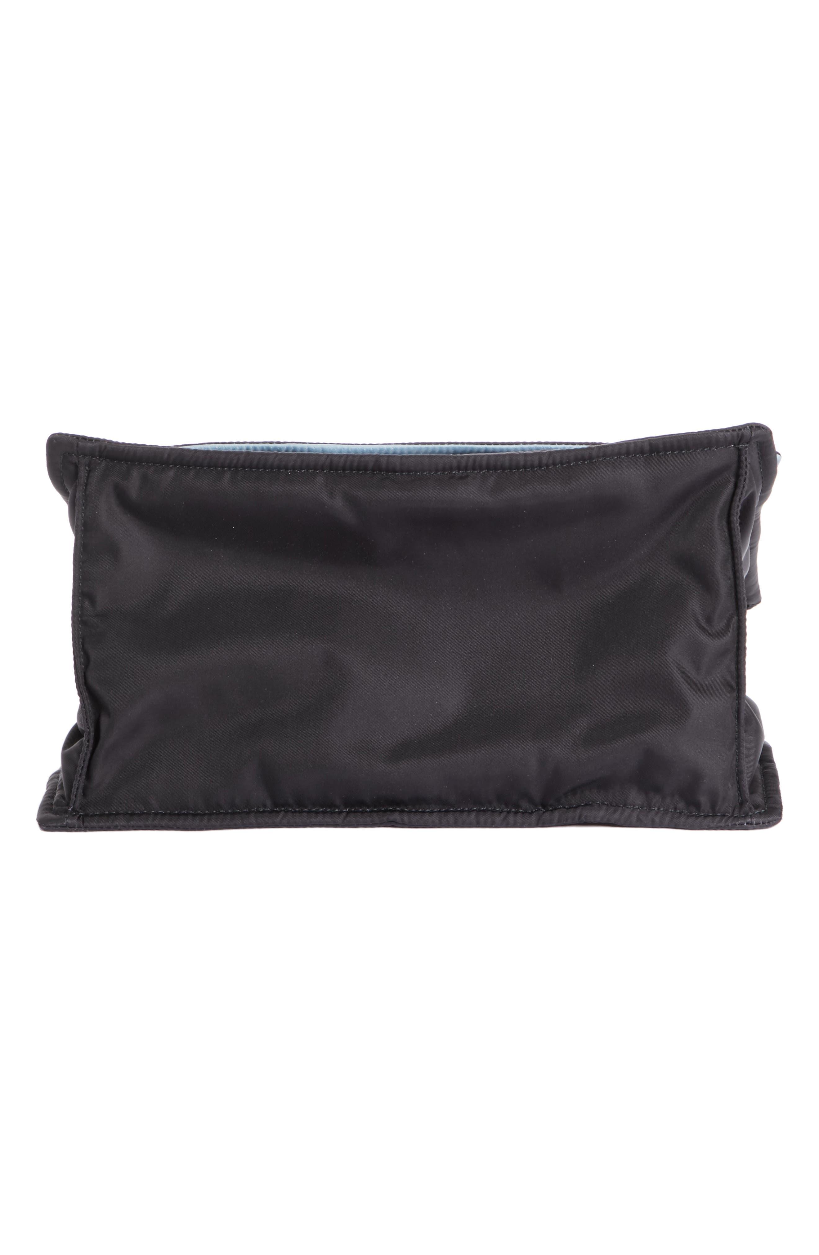 Medium Etiquette Tessuto Bag,                             Alternate thumbnail 6, color,                             Nero/ Astrale