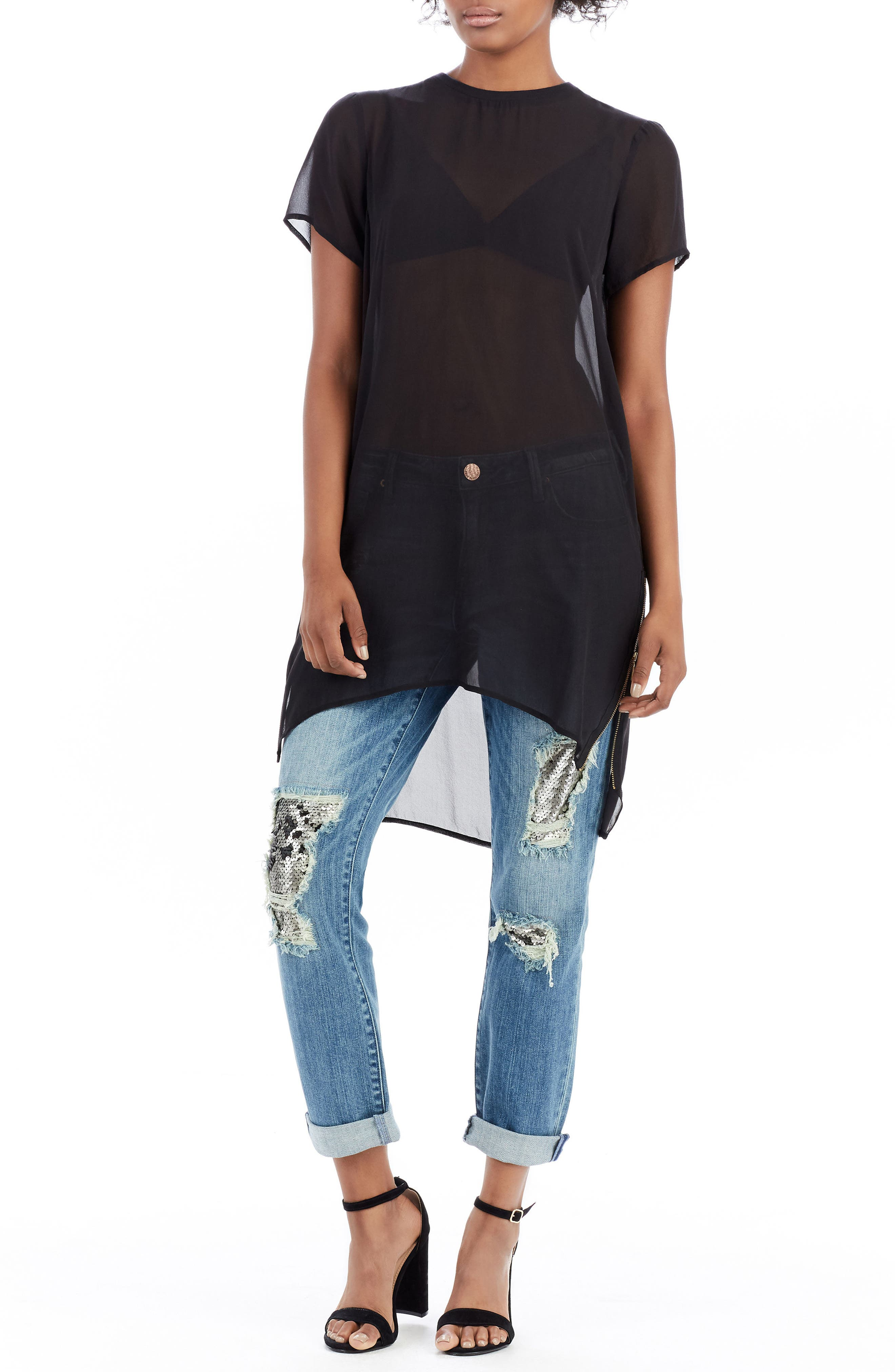 Cameron Slim Boyfriend Jeans,                             Alternate thumbnail 2, color,                             Dark Rebel Shadow