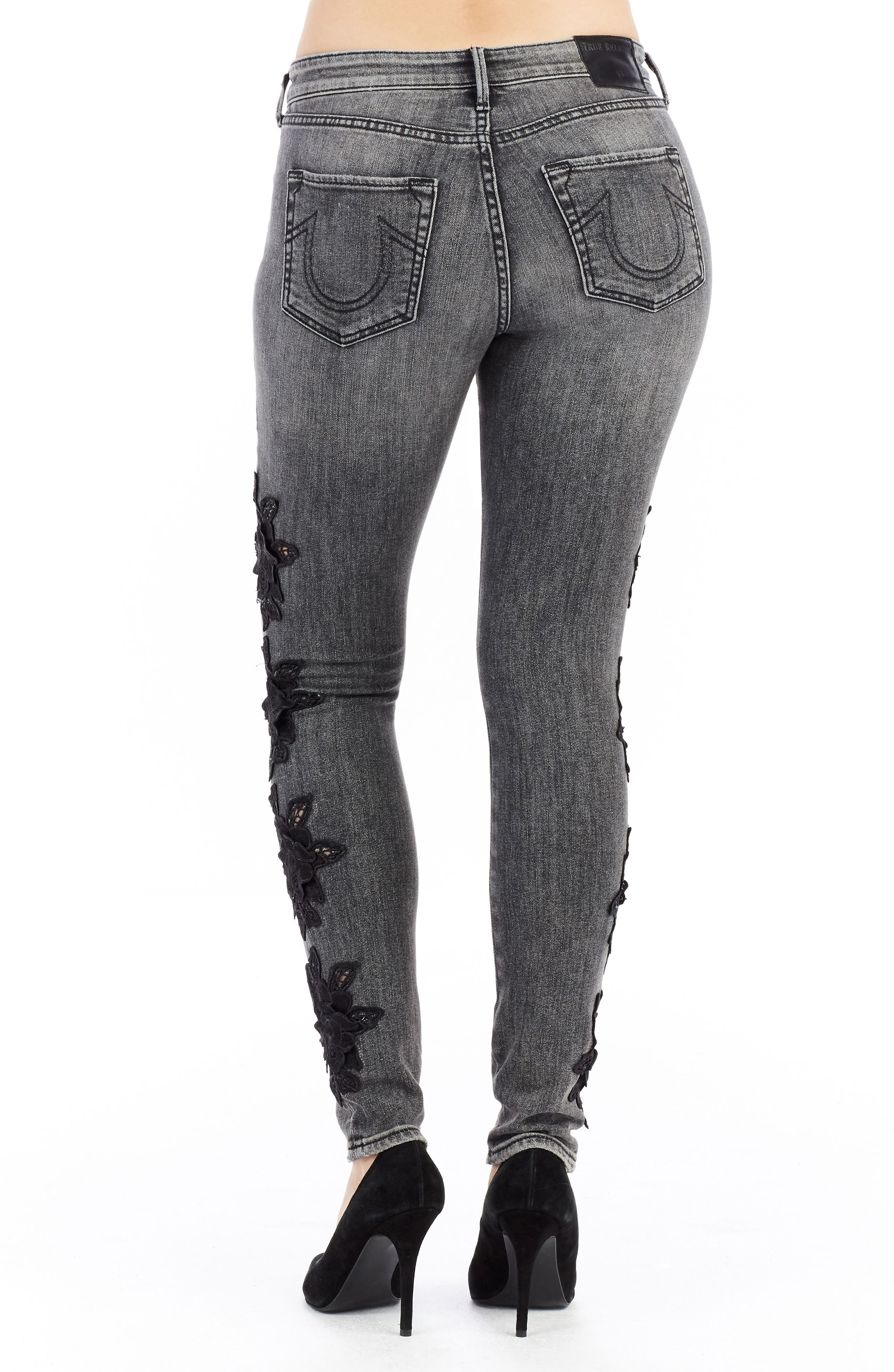 Jennie Curvy Skinny Jeans,                             Alternate thumbnail 2, color,                             Rhodium