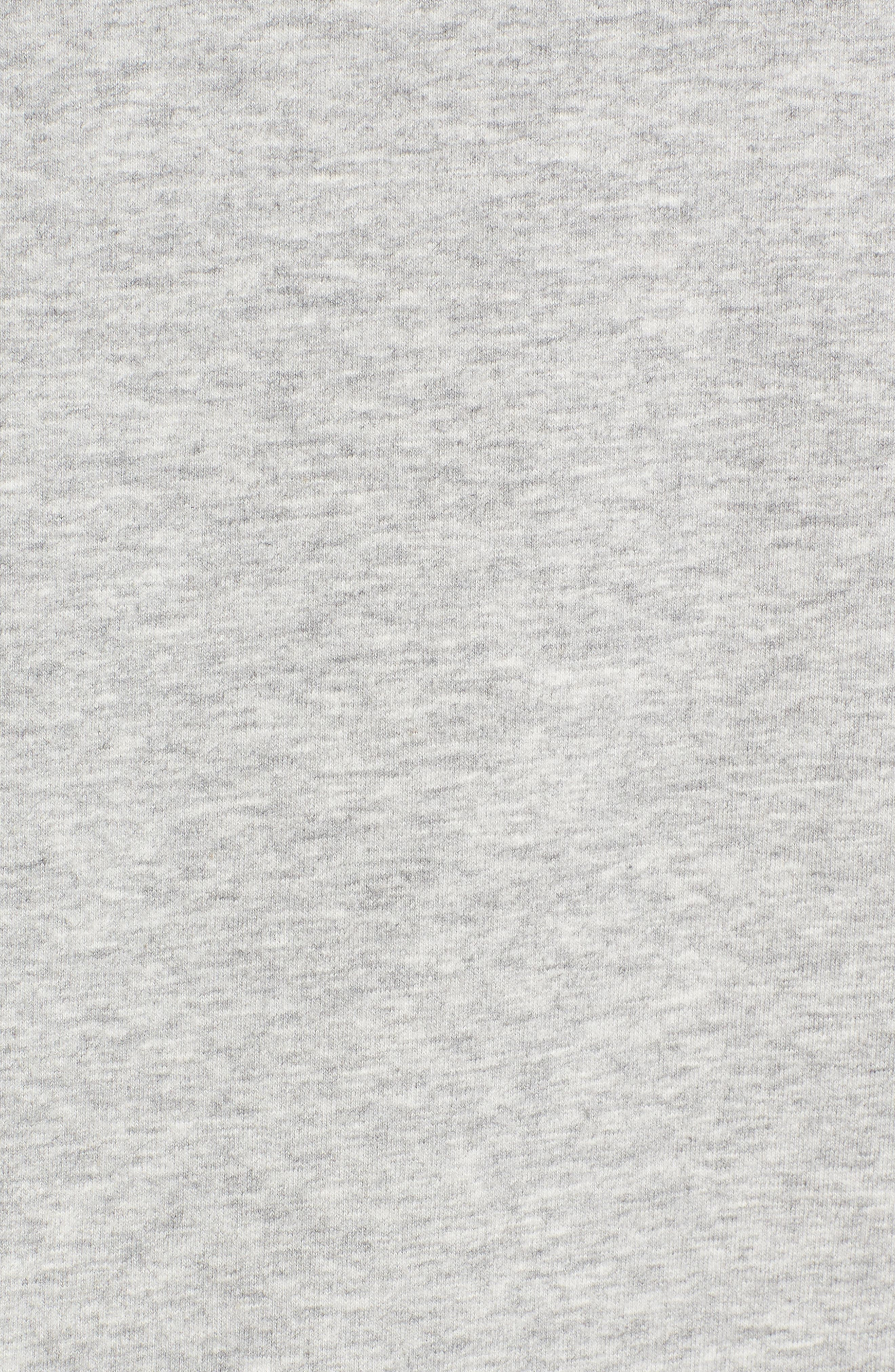 Tie Back Sweatshirt,                             Alternate thumbnail 5, color,                             Grey Heather
